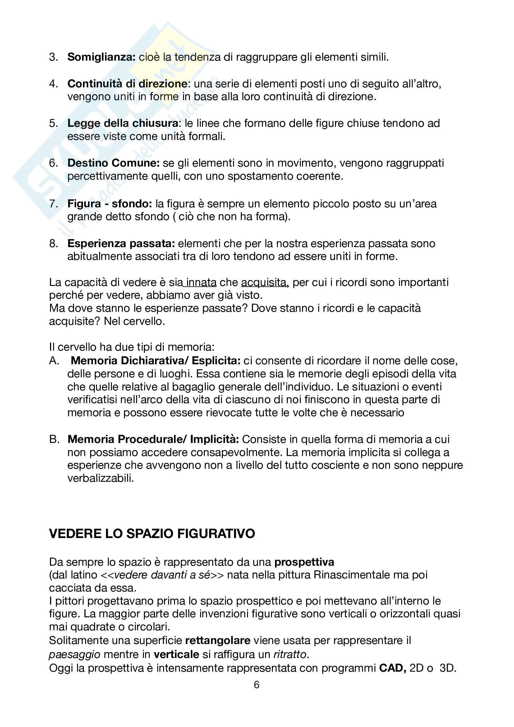 Riassunto esame design, prof.Lo Curzio, libro consigliato Guardare, pensare, progettare, Neuroscienze per il design, Falcinelli Pag. 6