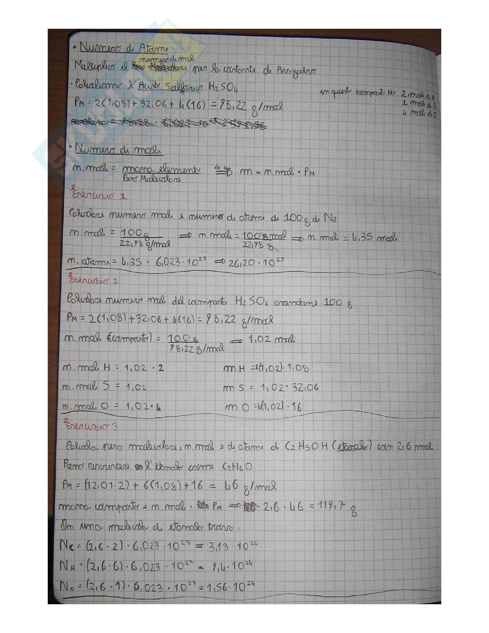 Chimica tutta la teoria + centinaia di esercizi (tutto quello che serve per un 30 all'esame) Pag. 41