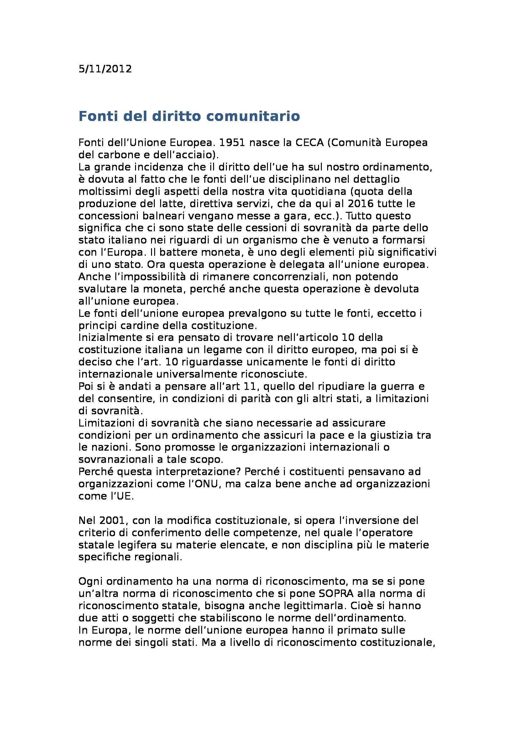 Diritto costituzionale - Appunti
