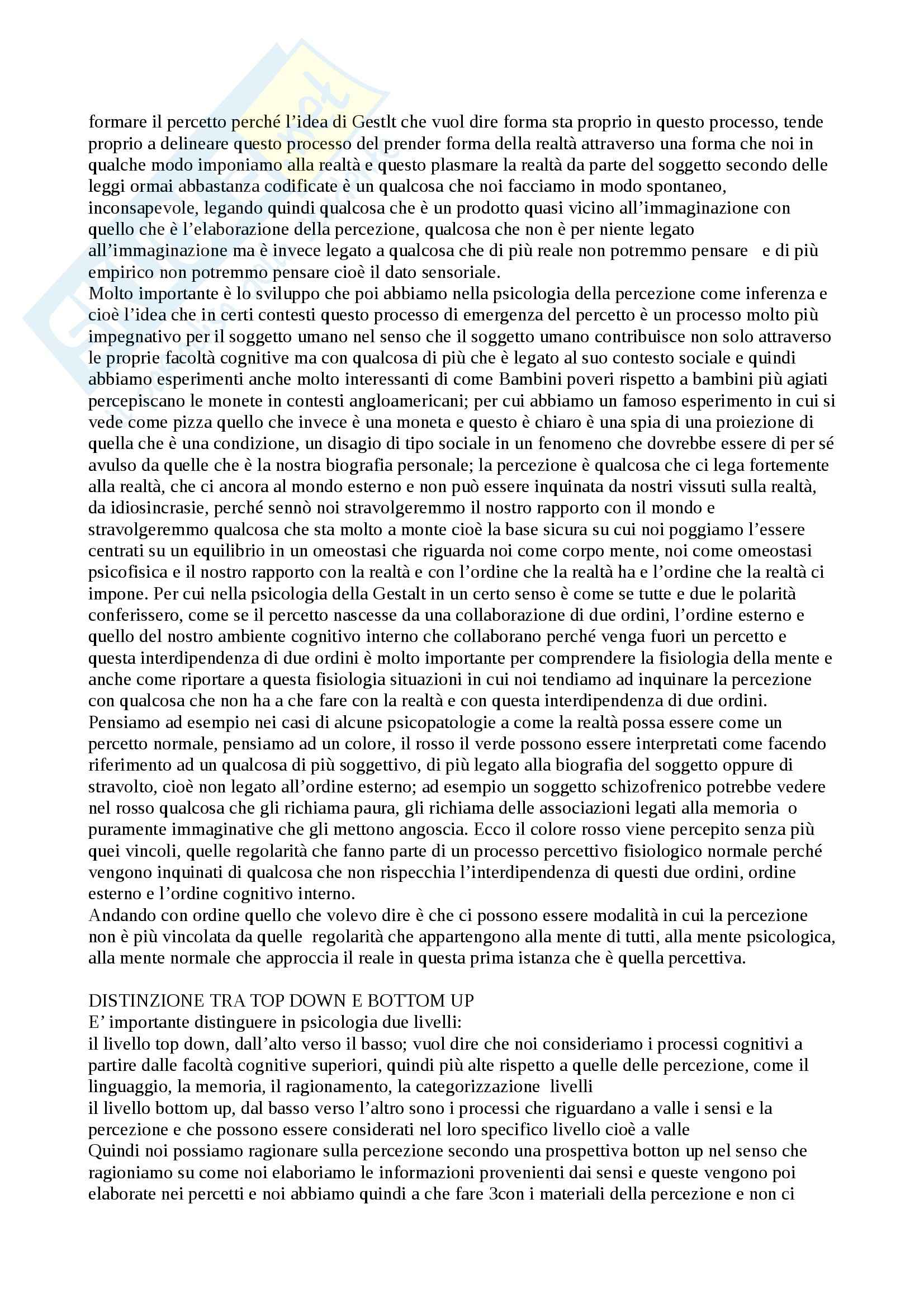 Psicologia generale - Appunti Pag. 2