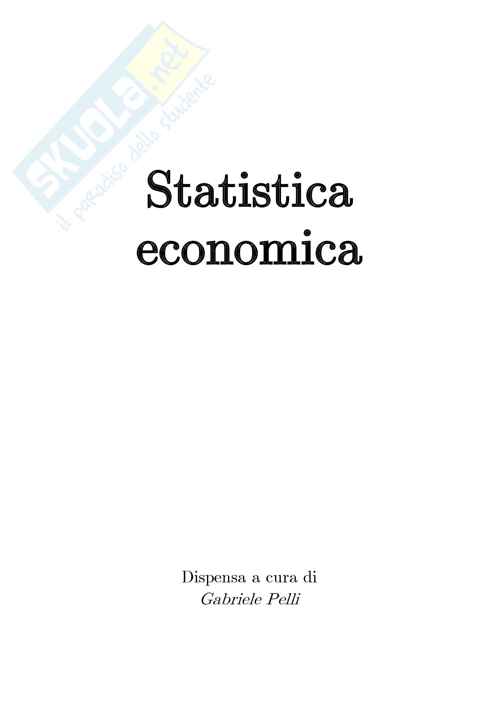 appunto A. Dacomo Statistica economica