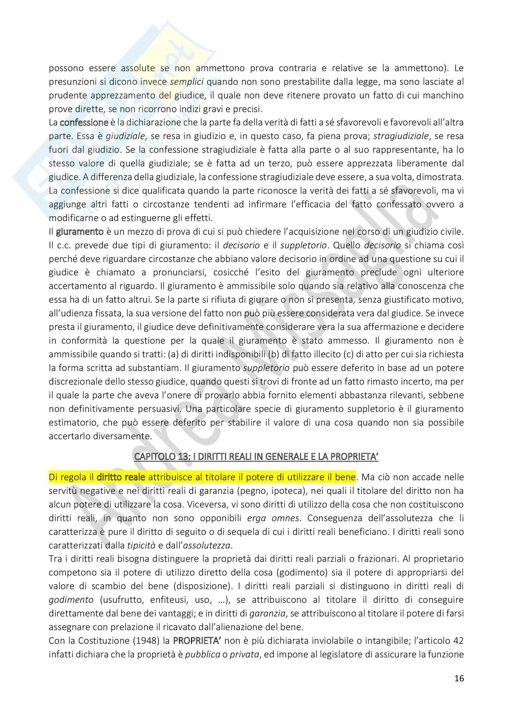 Riassunto Esame Istituzioni di Diritto Privato (Economia), prof. Schiavone Pag. 16