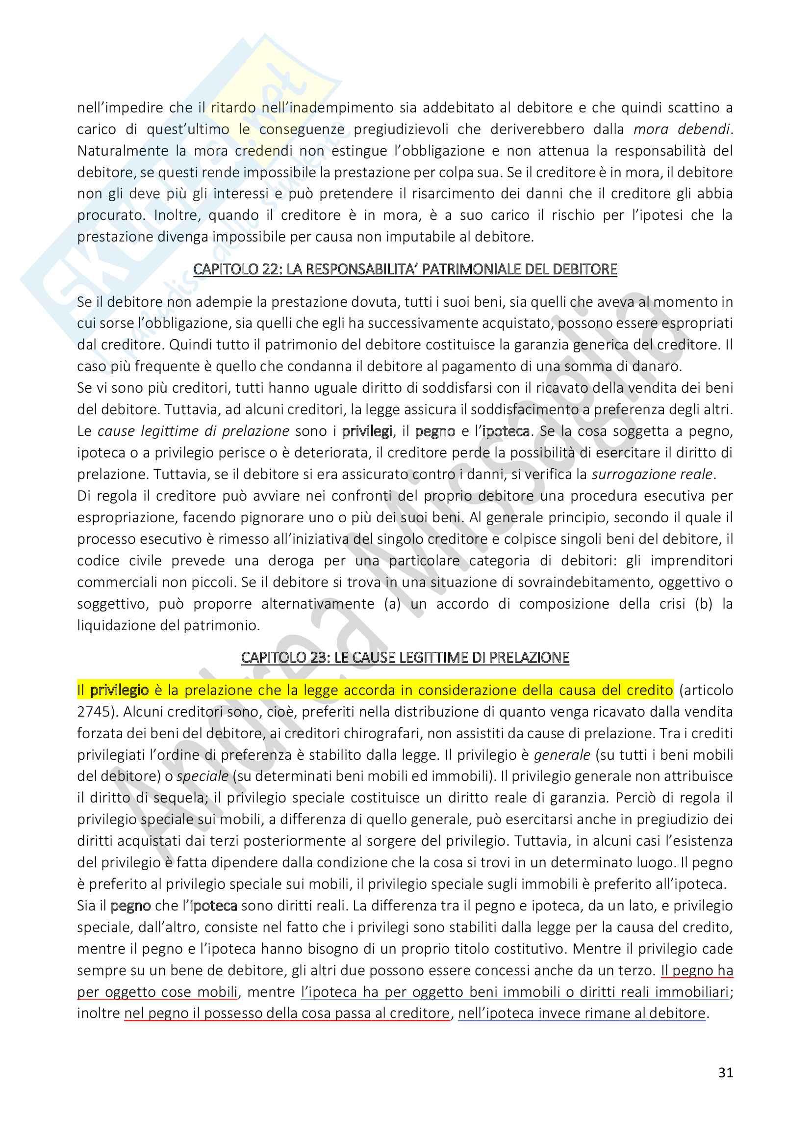 Riassunto Esame Istituzioni di Diritto Privato (Economia), prof. Schiavone Pag. 31