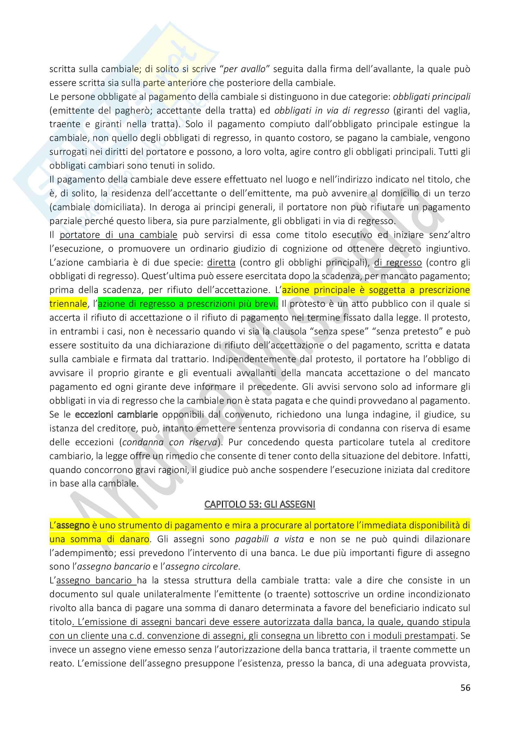 Riassunto Esame Istituzioni di Diritto Privato (Economia), prof. Schiavone Pag. 56