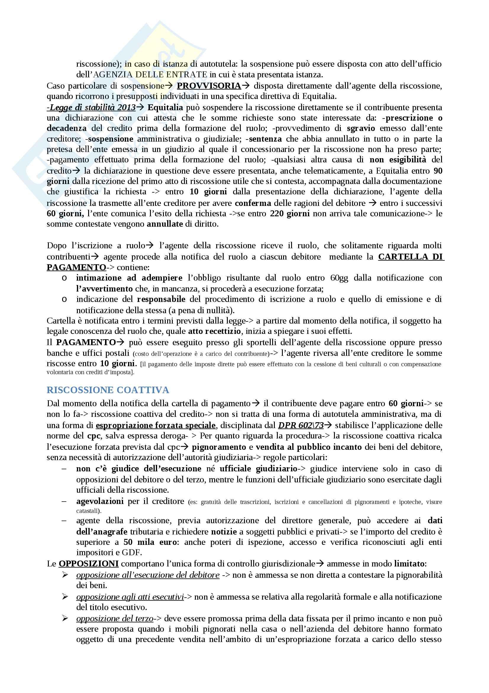 Riassunto esame Diritto tributario, prof. Tinelli, libro consigliato Istituzioni di diritto tributario di Tinelli - parte generale Pag. 46