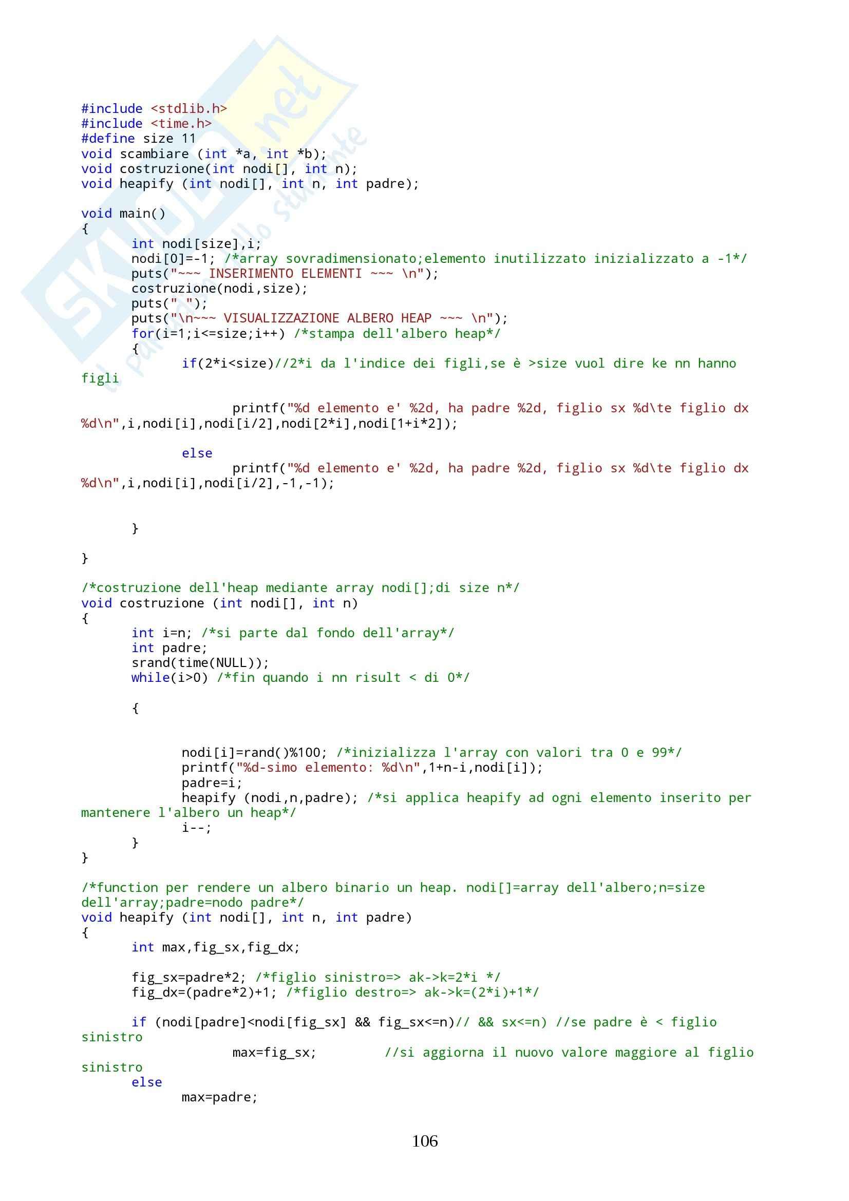 Programmazione II  - esercizi Pag. 106