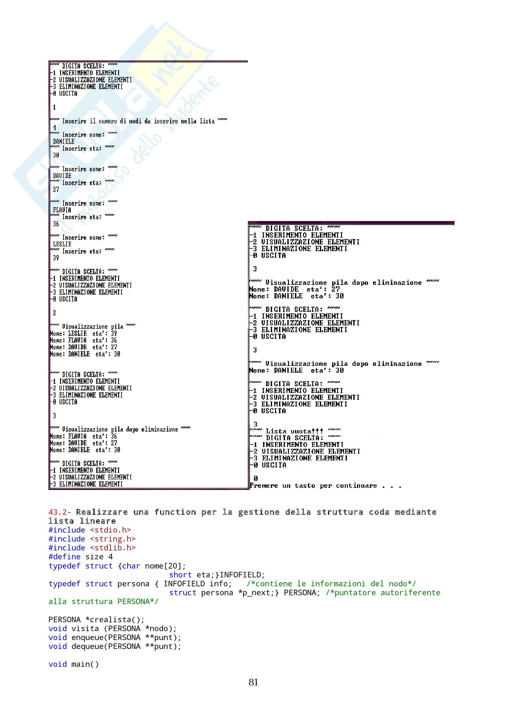 Programmazione II  - esercizi Pag. 81