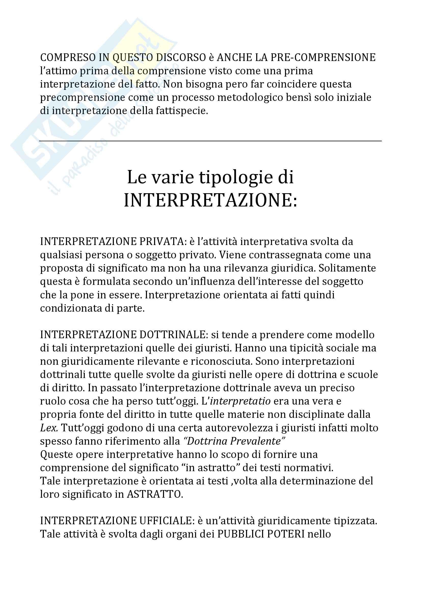 Teoria del diritto e dell'interpretazione - Appunti Pag. 11