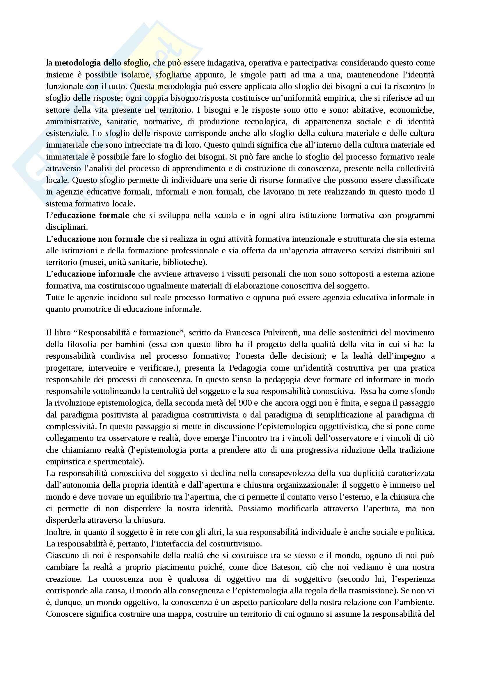 Identità della pedagogia, Pedagogia generale Pag. 2