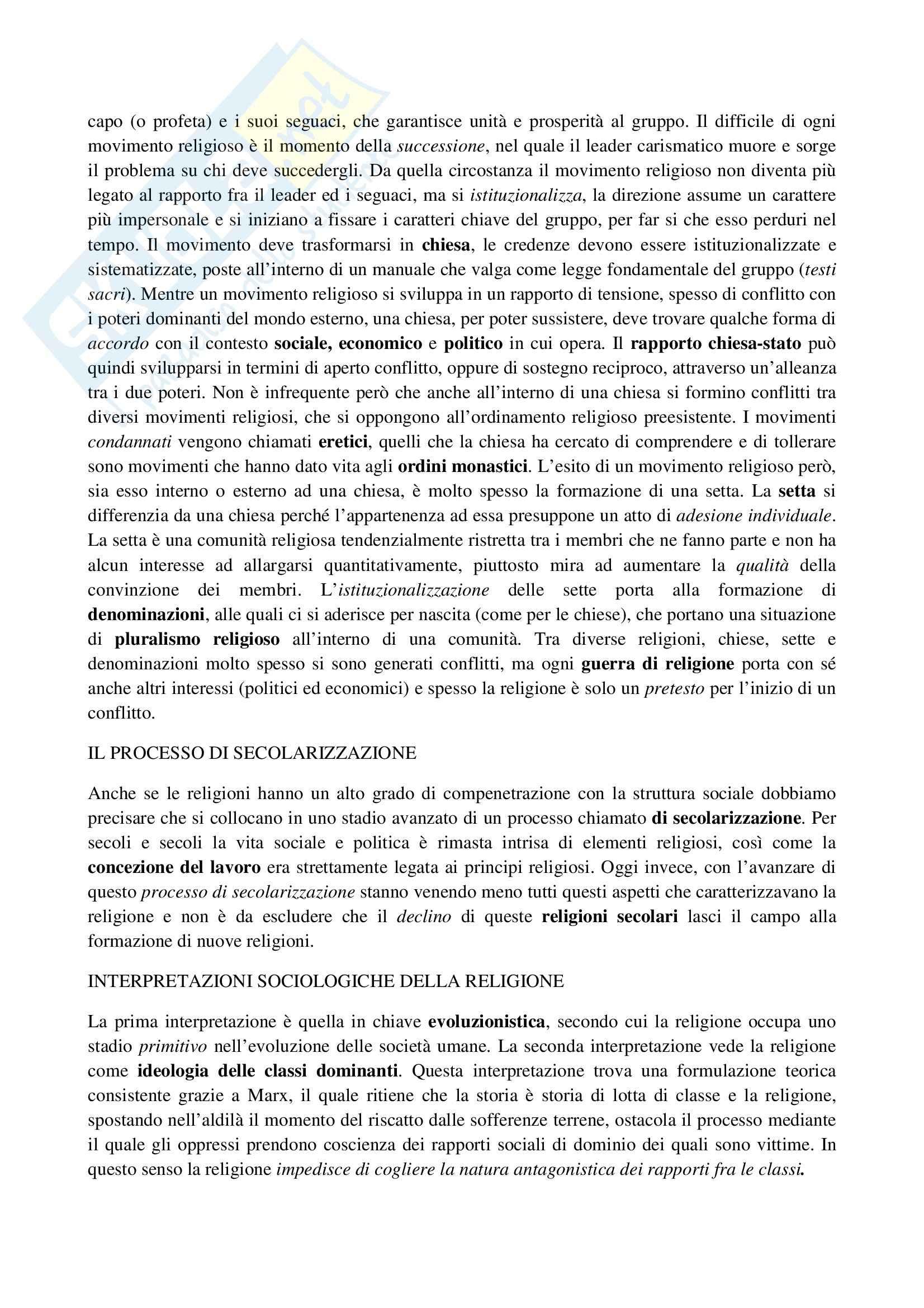 Riassunto esame Sociologia, prof. La Spina, libro consigliato Corso di sociologia, Bagnasco, Barbagli, Cavalli Pag. 21