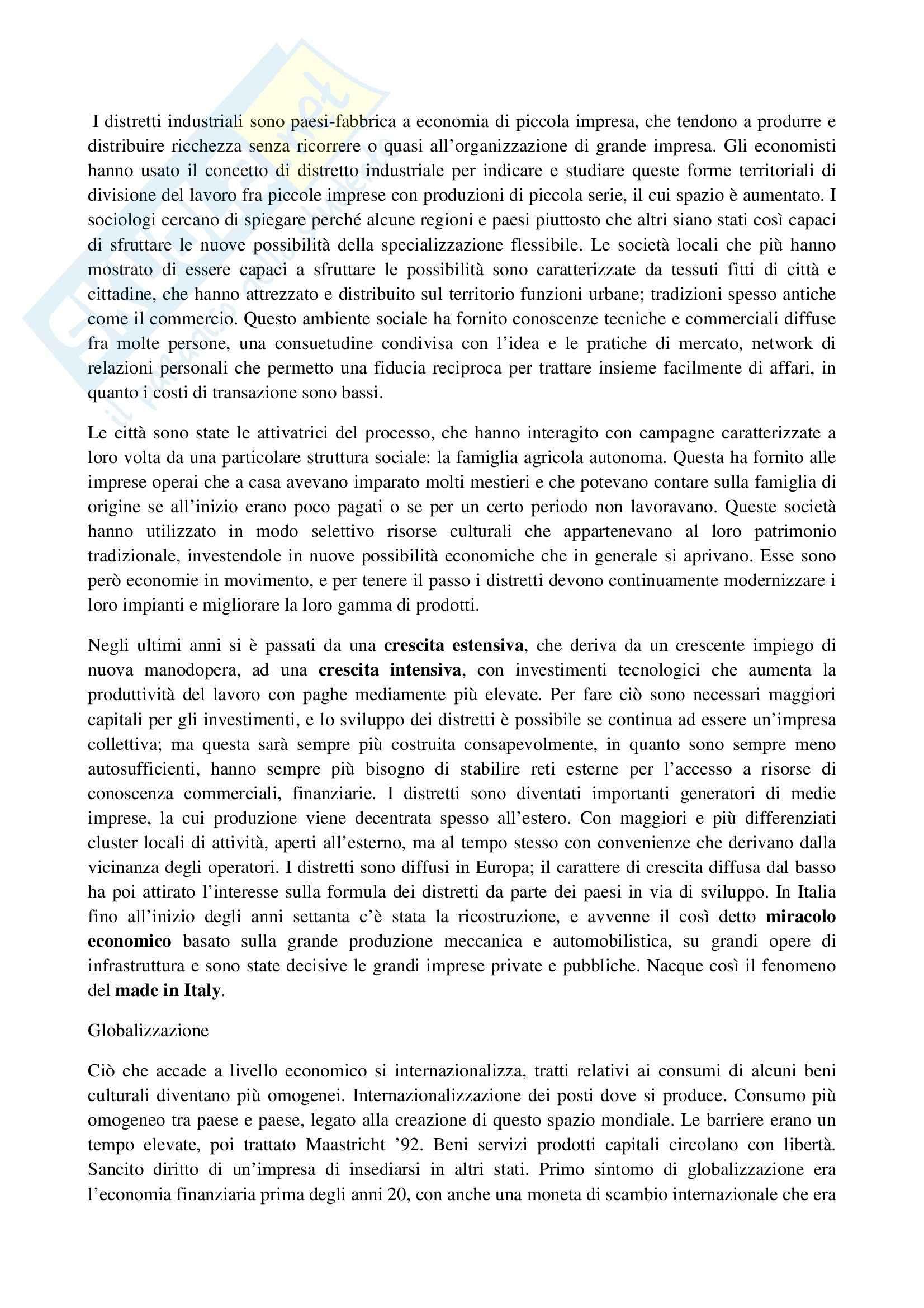 Riassunto esame Sociologia, prof. La Spina, libro consigliato Corso di sociologia, Bagnasco, Barbagli, Cavalli Pag. 36