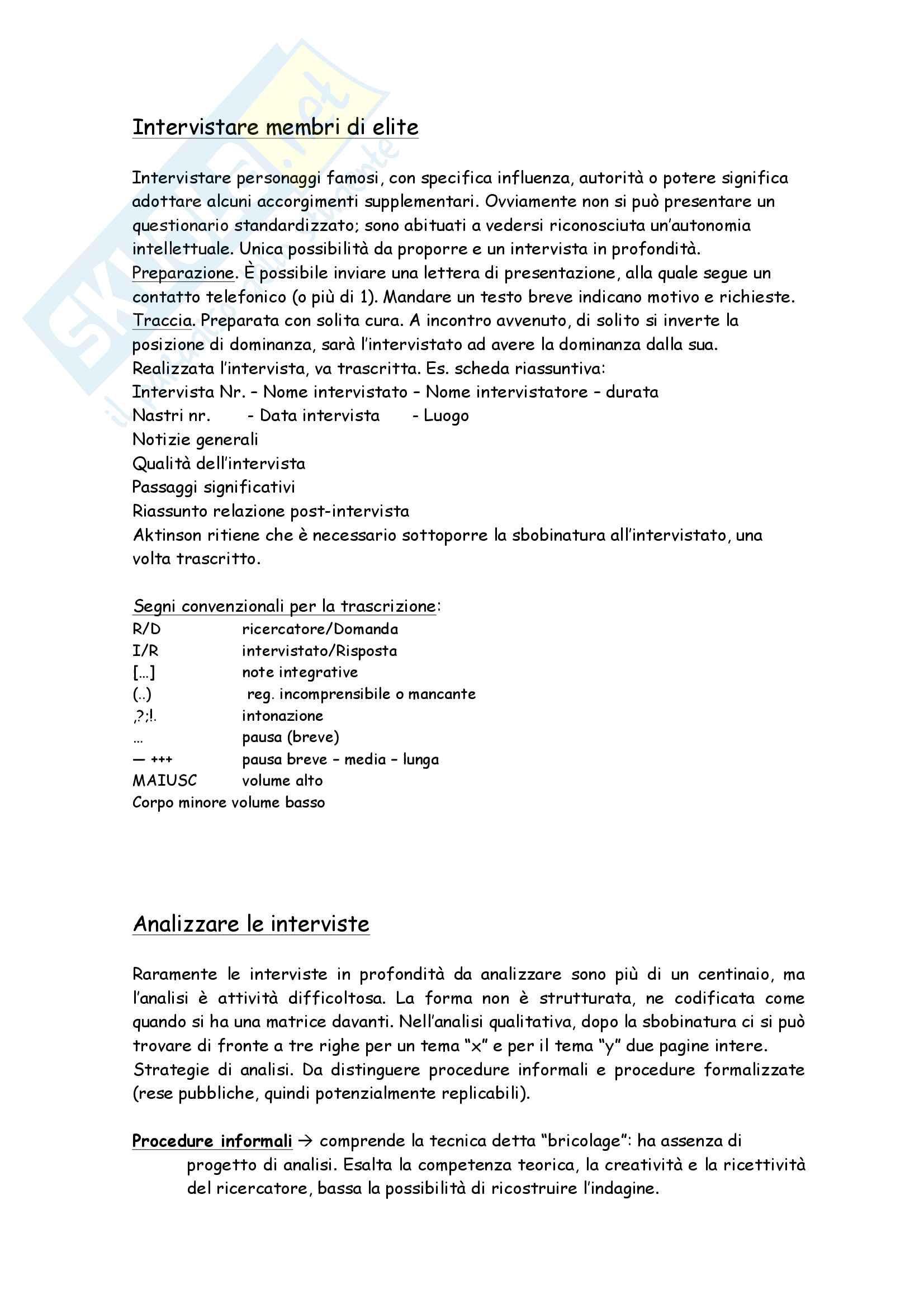Riassunto esame Metodi e tec. dell'intervista e del questionario, docente Barni, libro consigliato  La ricerca come relazione di S. Tunisi Pag. 16