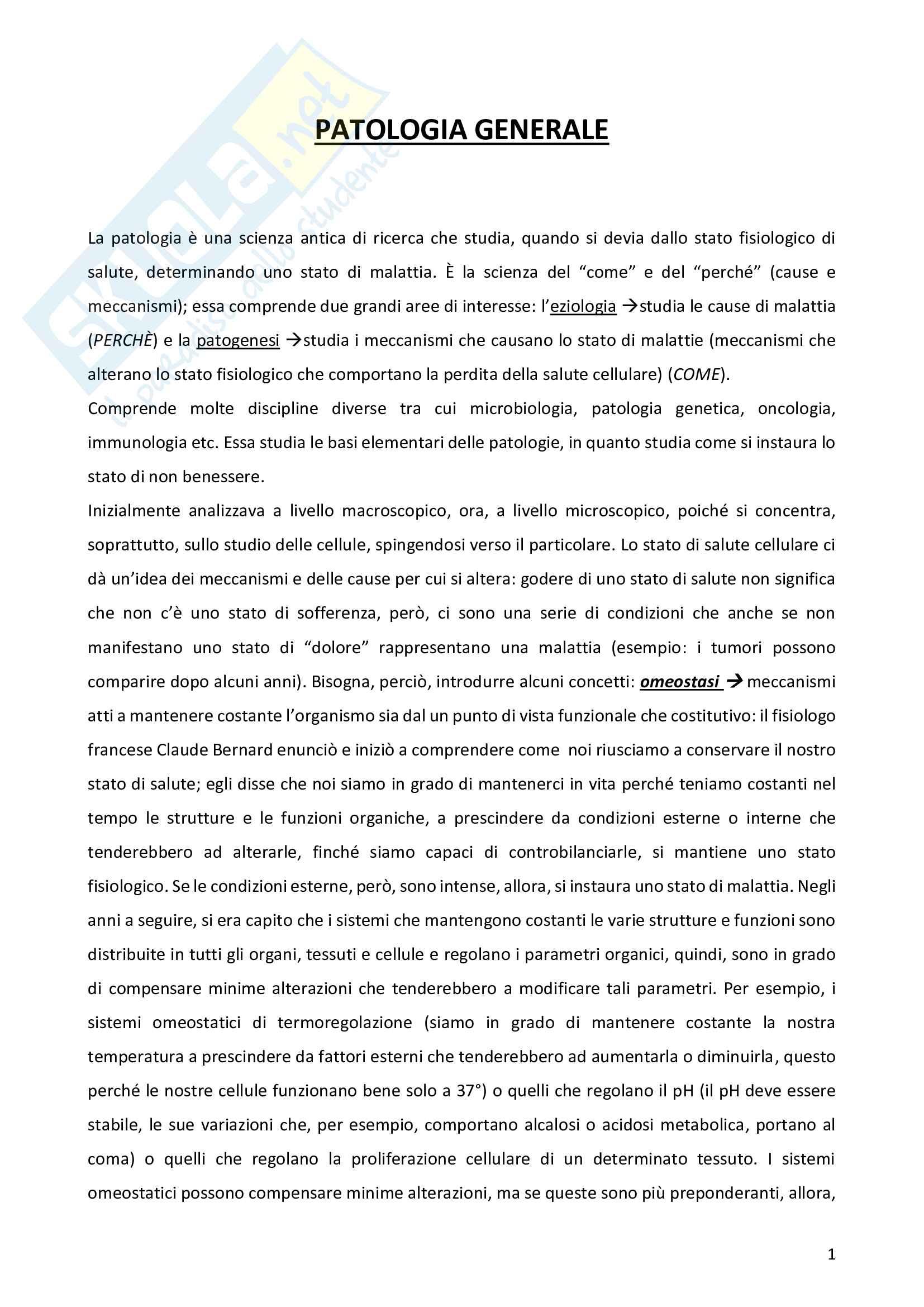 Appunti Patologia Generale