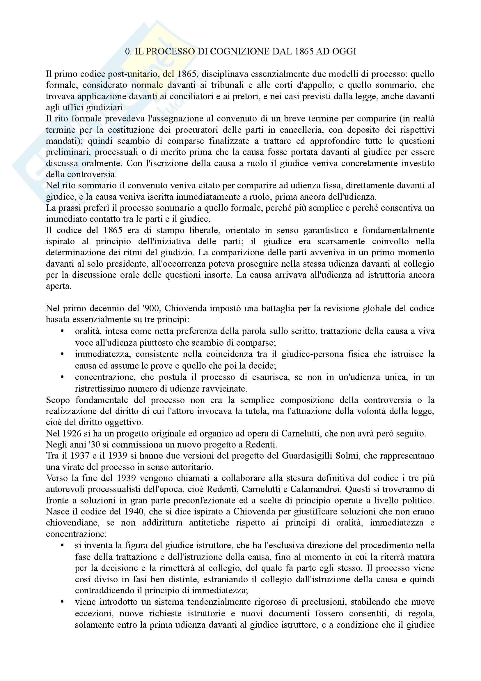 Istituzioni di diritto processuale civile - Balena - Riassunto esame