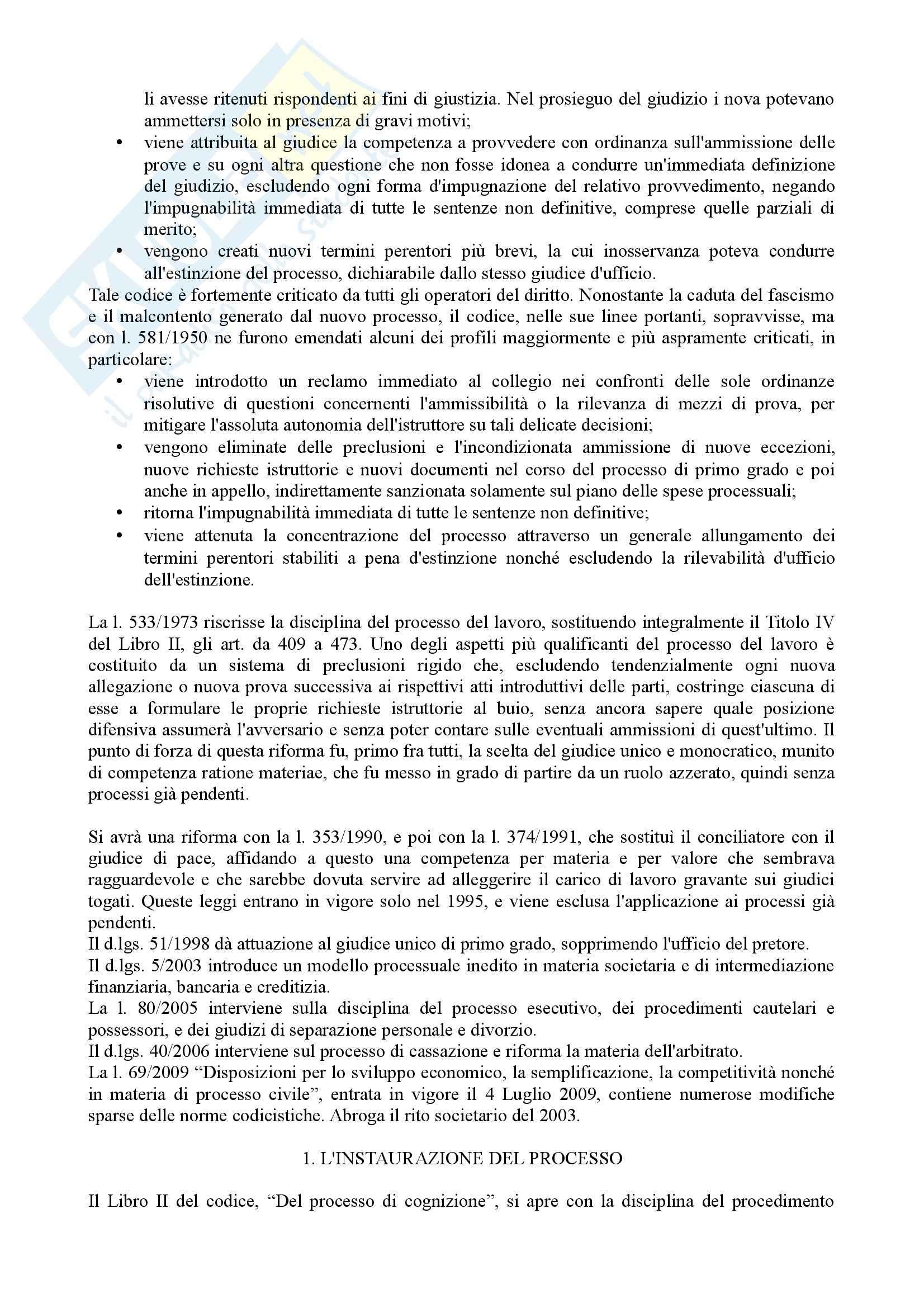 Istituzioni di diritto processuale civile - Balena - Riassunto esame Pag. 2