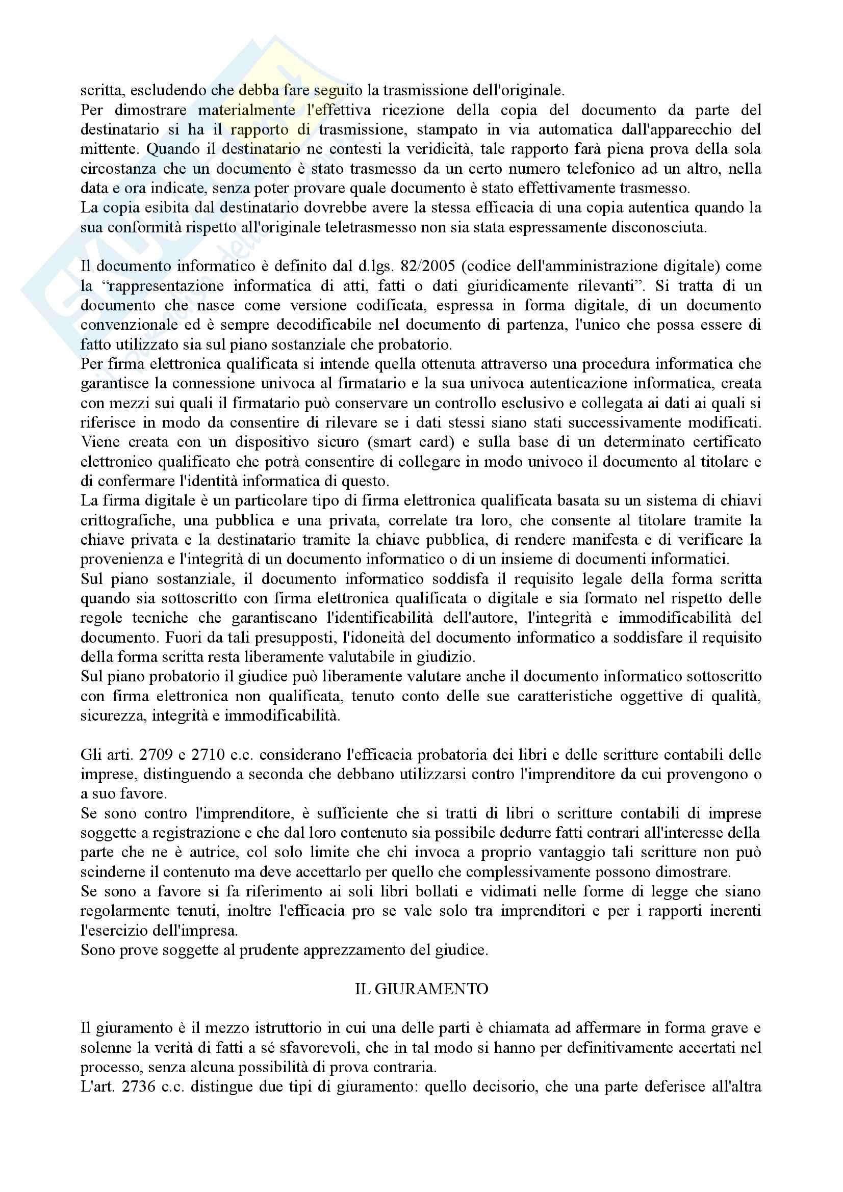 Istituzioni di diritto processuale civile - Balena - Riassunto esame Pag. 26