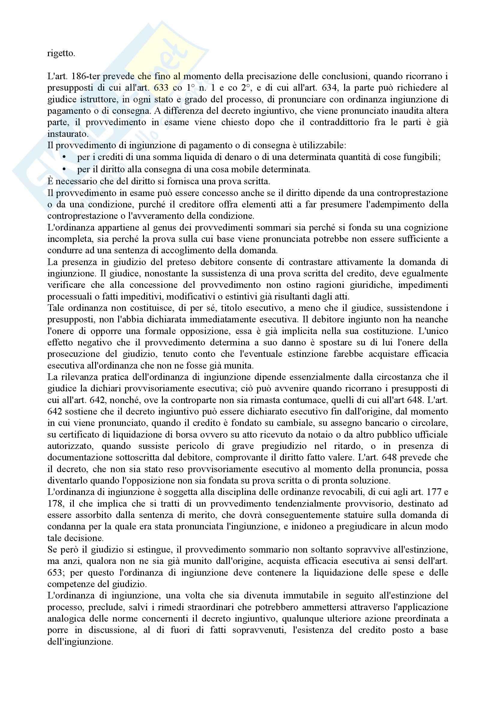 Istituzioni di diritto processuale civile - Balena - Riassunto esame Pag. 41