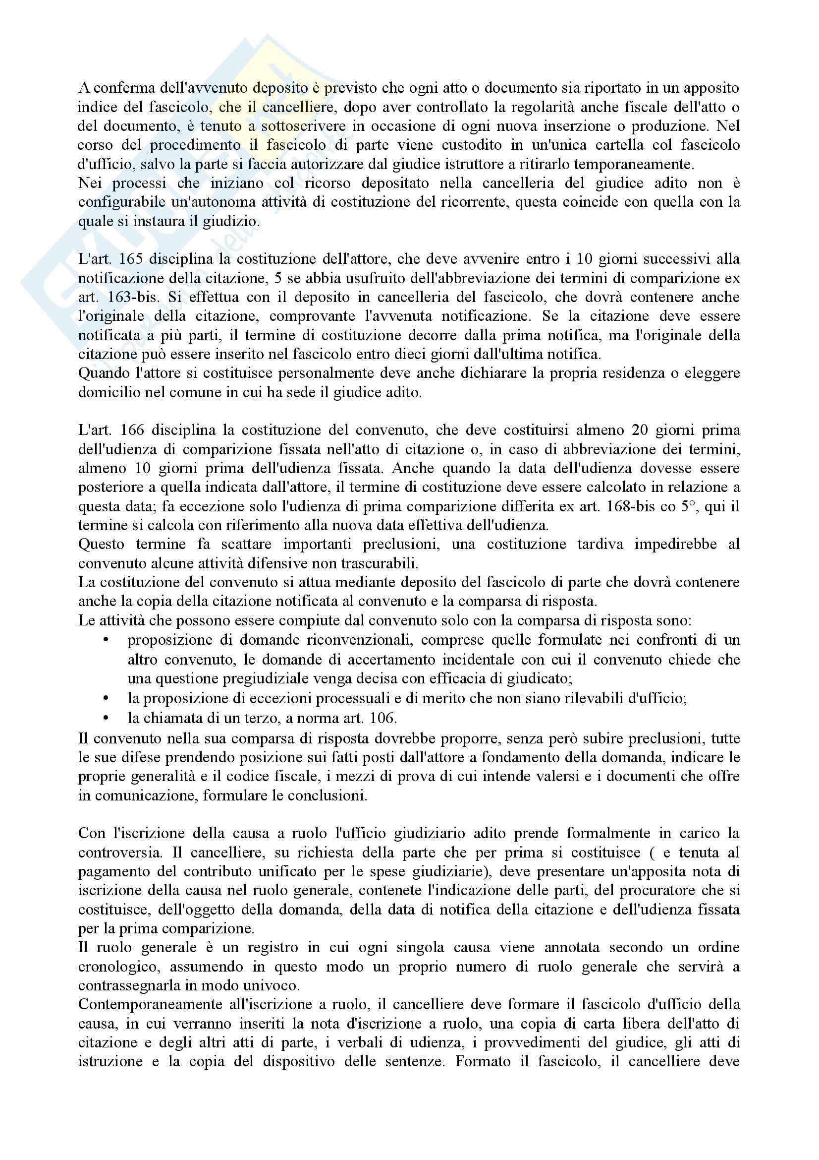 Istituzioni di diritto processuale civile - Balena - Riassunto esame Pag. 6