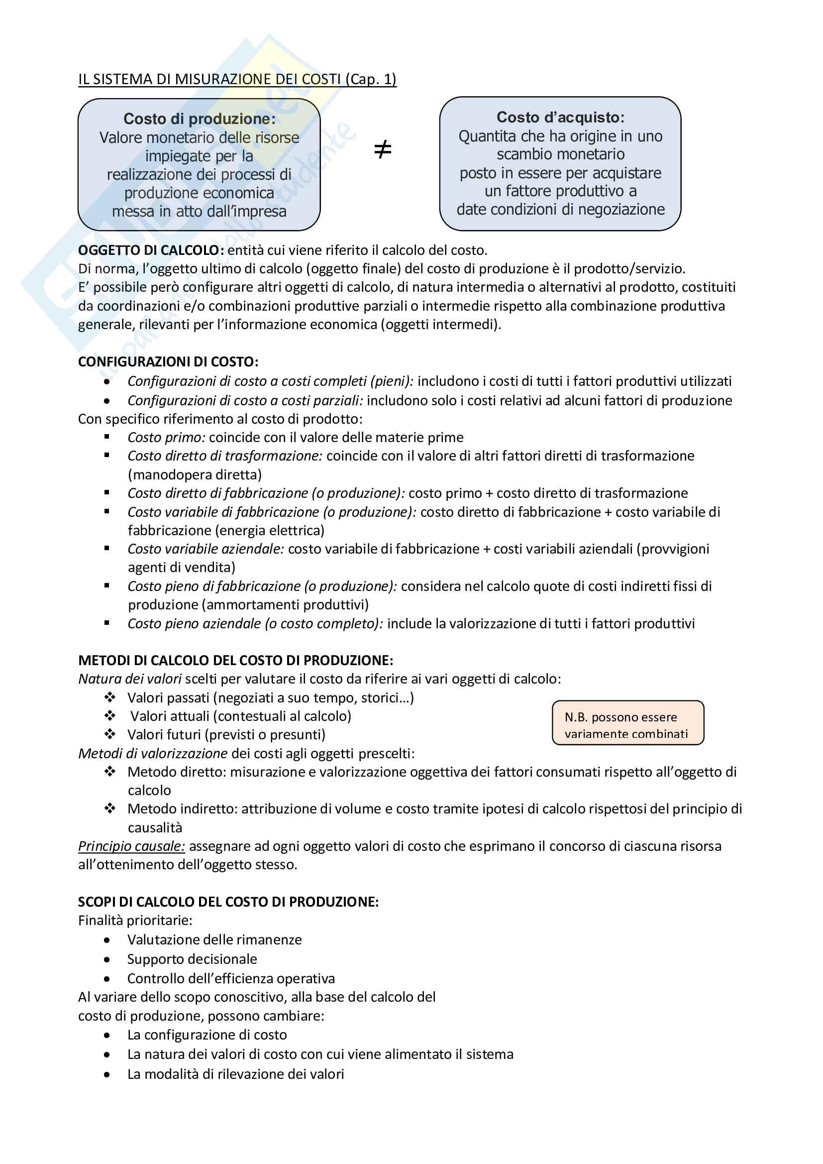 Riassunto esame Programmazione, prof. Vola, libro consigliato Programmazione e Controllo, Arcari Pag. 1