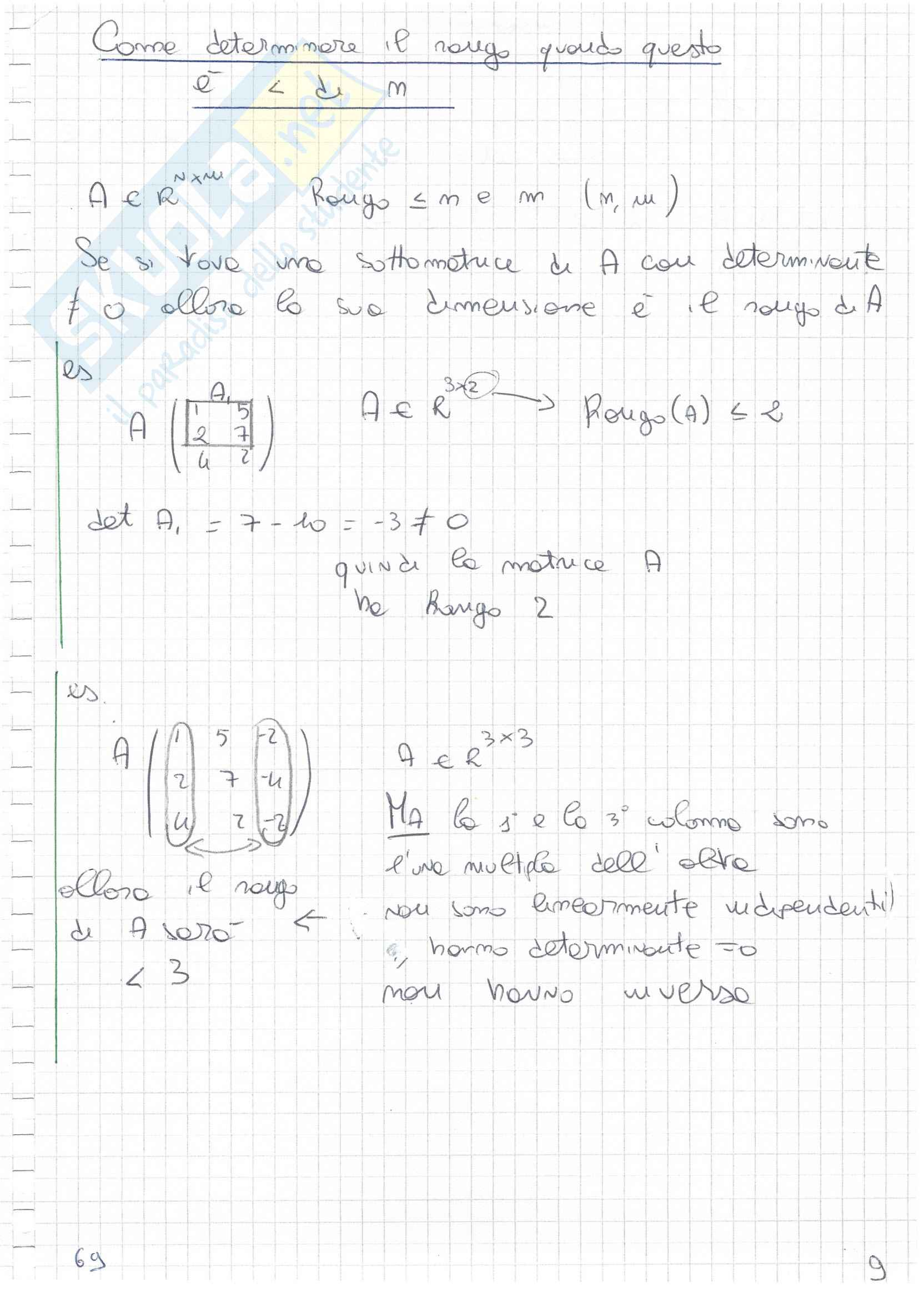 Matrici e sistemi lineari Pag. 21