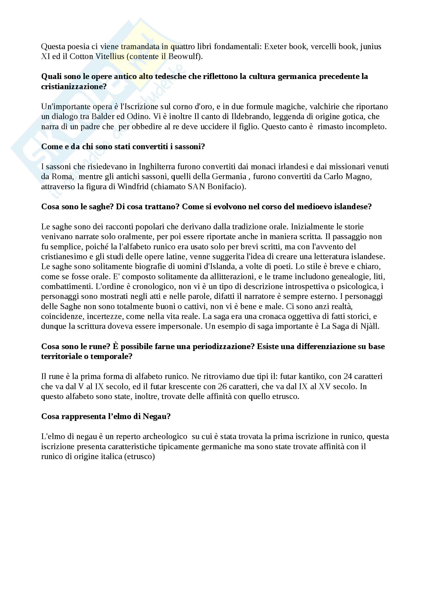 Filologia Germanica - risposte e domande Pag. 6