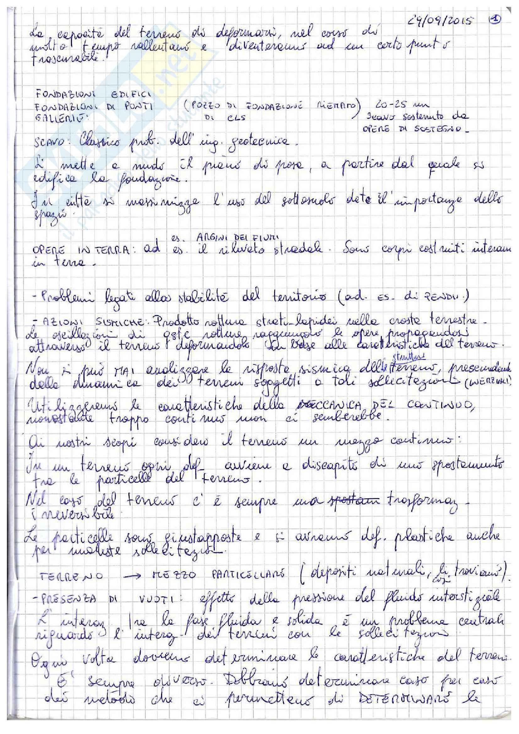 Lezioni: appunti di meccanica delle terre