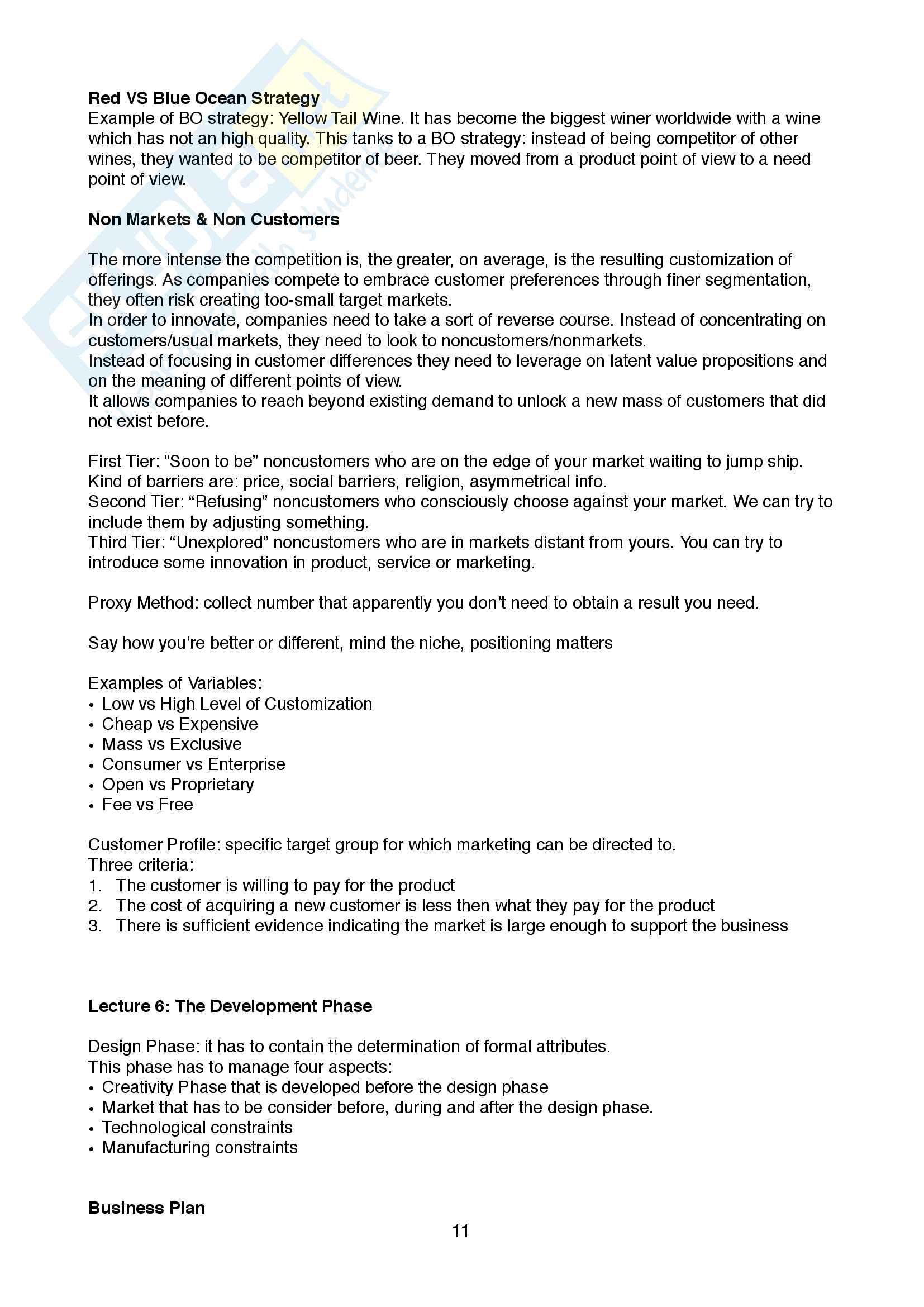 Appunti di Innovation Management Pag. 11