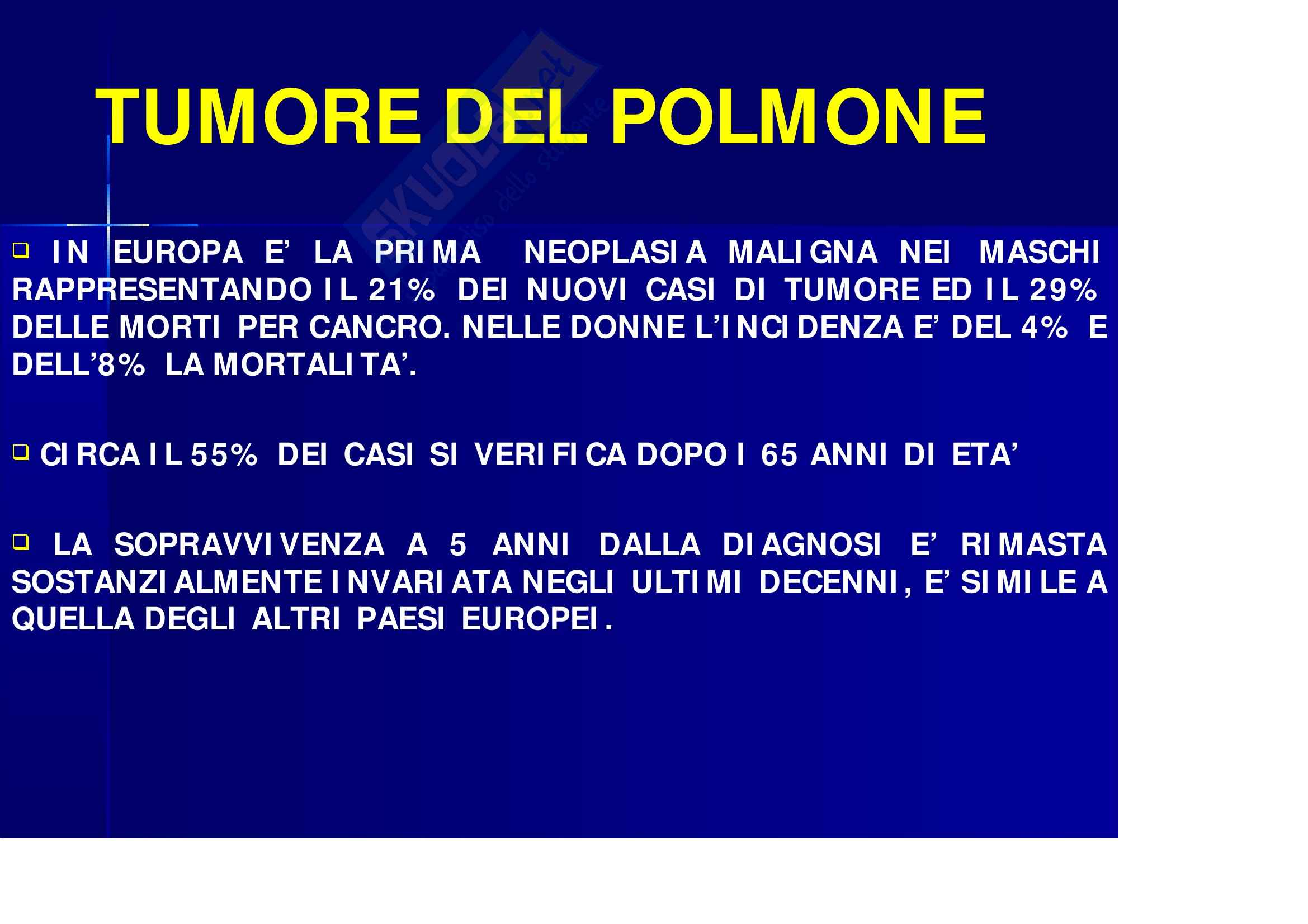 Oncologia – Tumore polmone Pag. 1