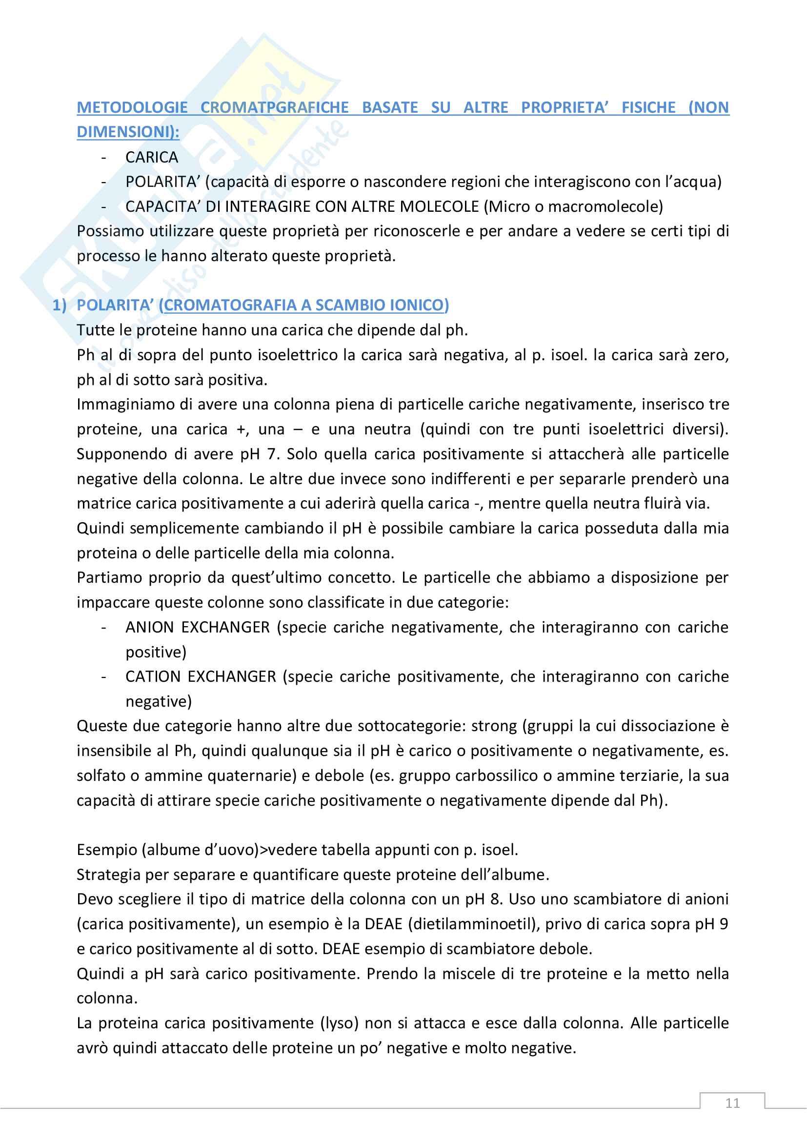 Biochimica delle Trasformazioni Alimentari - Lezioni e Domande (con Risposte) MAGISTRALE A.A. 2016 Pag. 11
