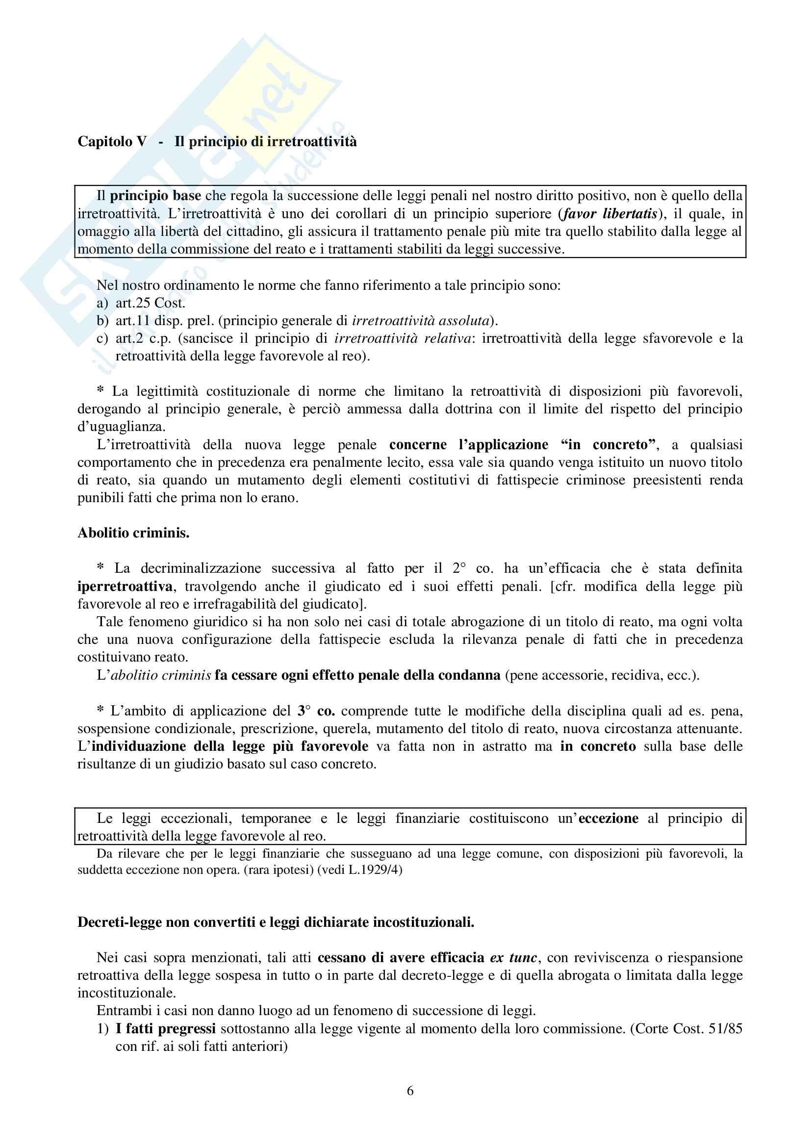 Riassunto esame Diritto Penale, prof. Mantovani Pag. 6