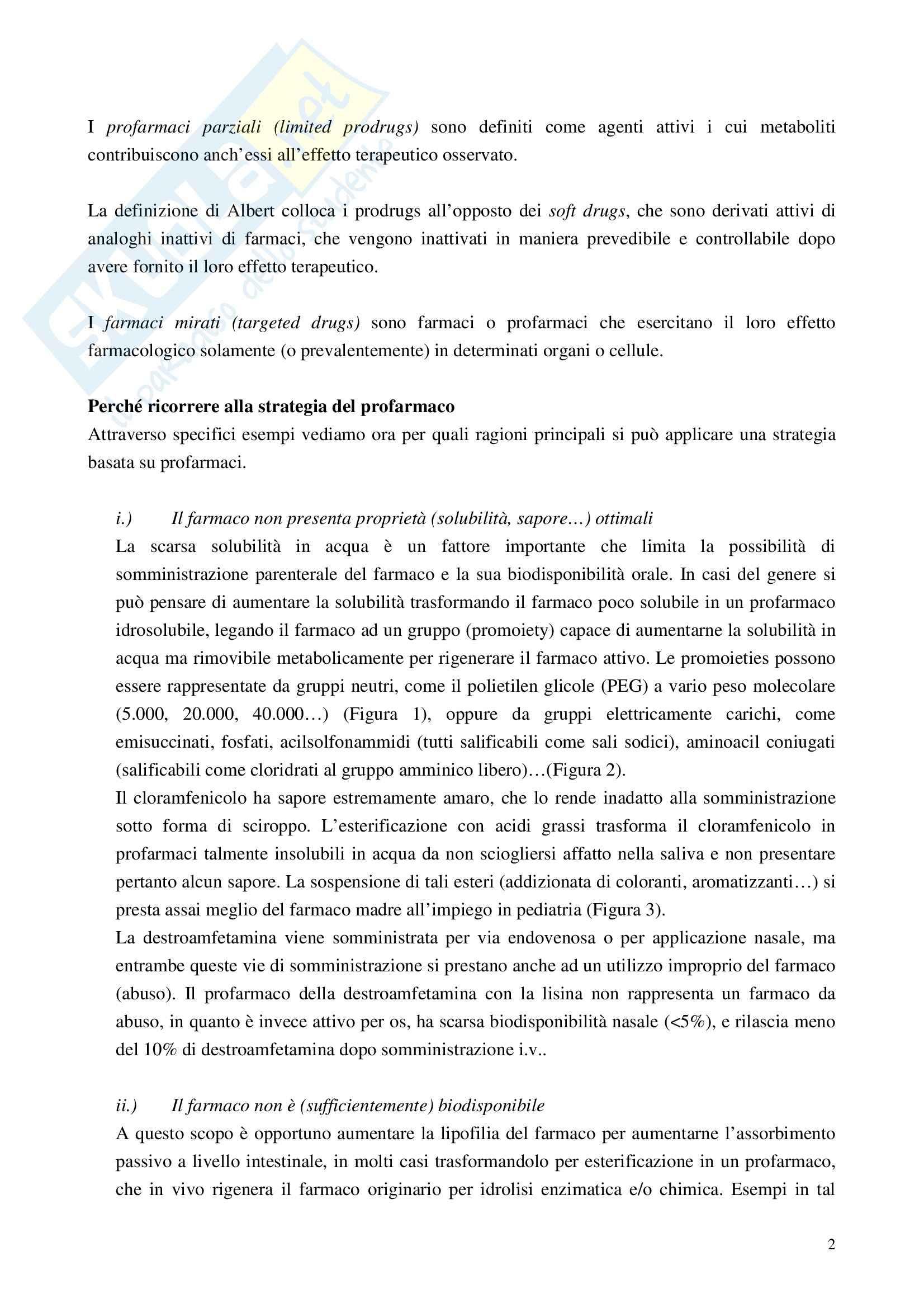 Chimica farmaceutica - i profarmaci Pag. 2
