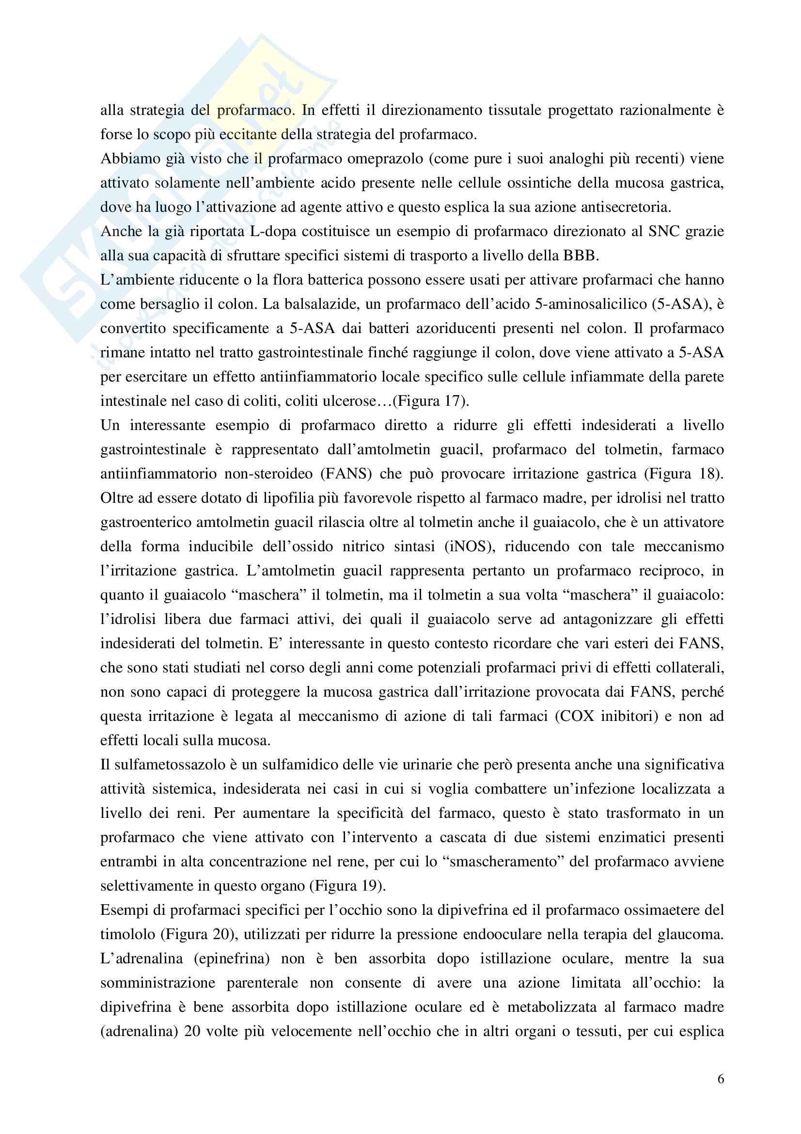 Chimica farmaceutica - i profarmaci Pag. 6