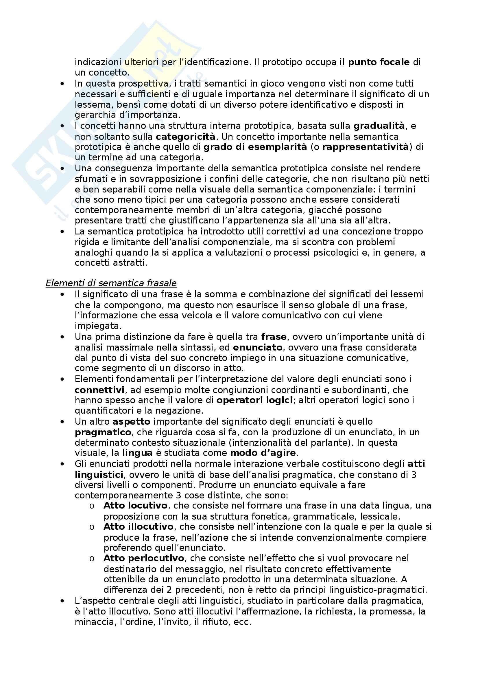 Riassunto esame Glottologia, prof. Bonfadini, libro consigliato La Linguistica: Un Corso Introduttivo, Berruto, Cerruti - cap. 5 Pag. 6