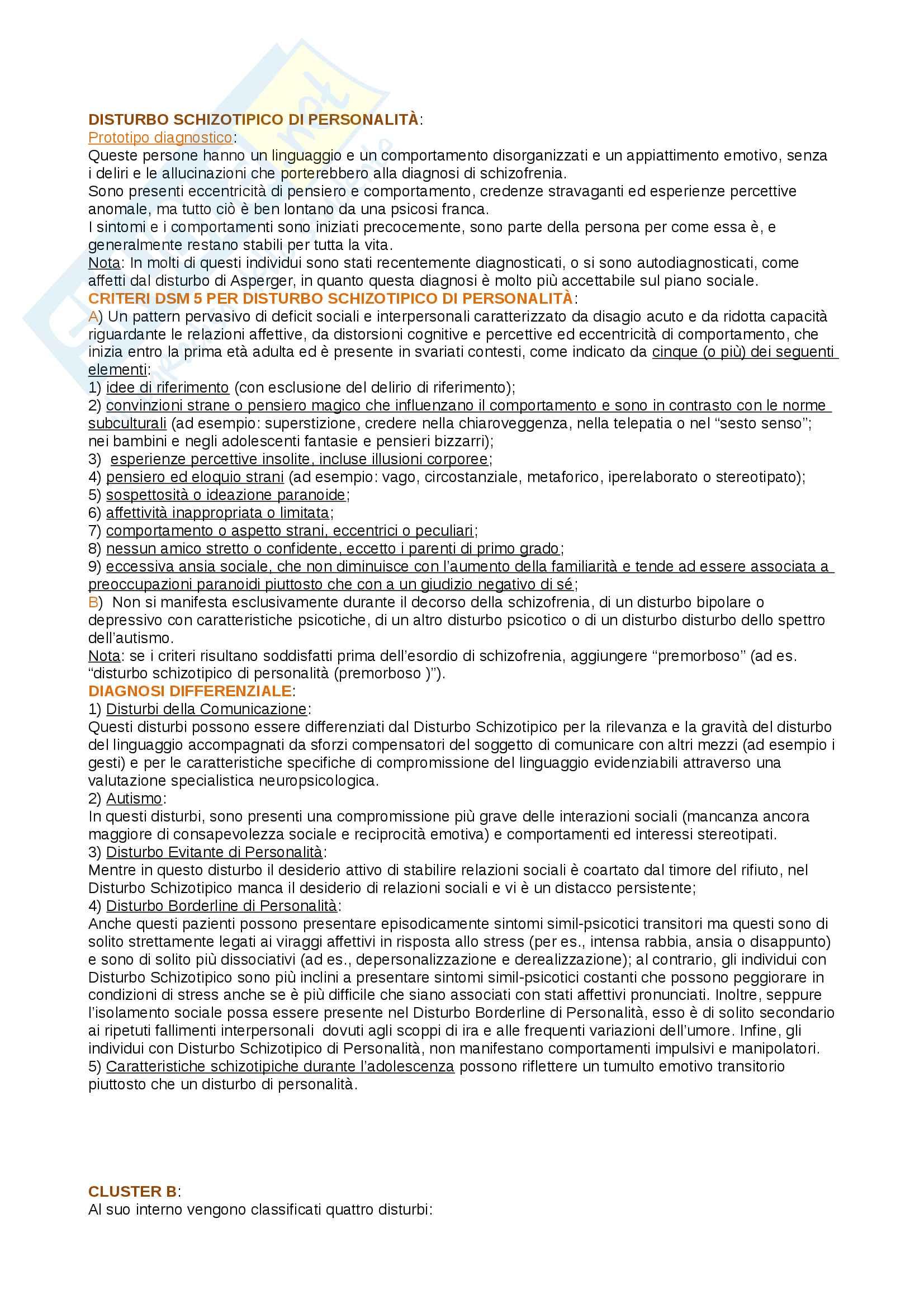 Riassunto esame psicopatologia generale, prof Antonio Prunas, libro consigliato DSM - 5, psicologia clinica, kring, la diagnosi in psichiatria, Frances Pag. 6