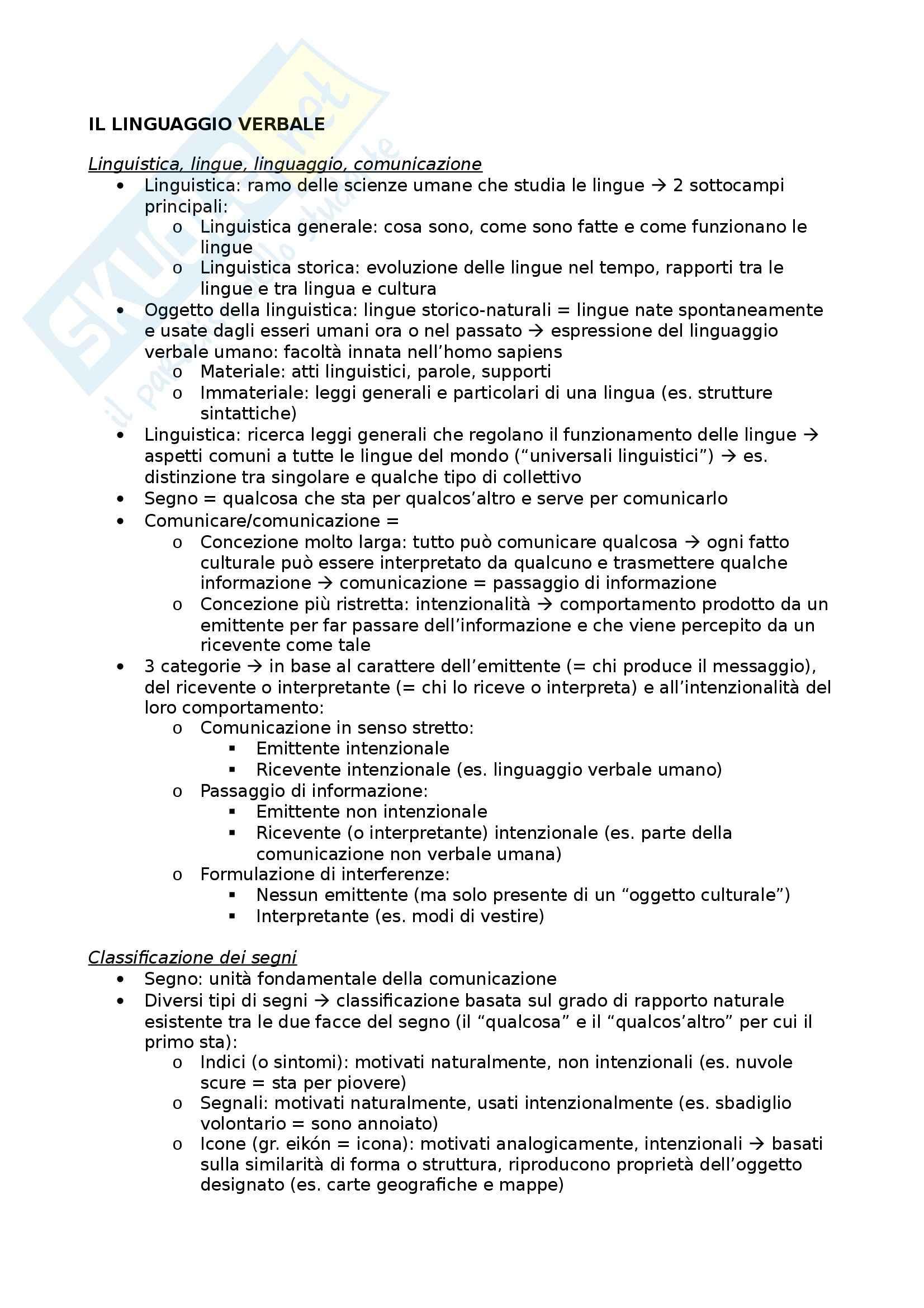 Riassunto esame Glottologia, prof. Bonfadini, libro consigliato La Linguistica: Un Corso Introduttivo, Berruto, Cerruti - cap. 1