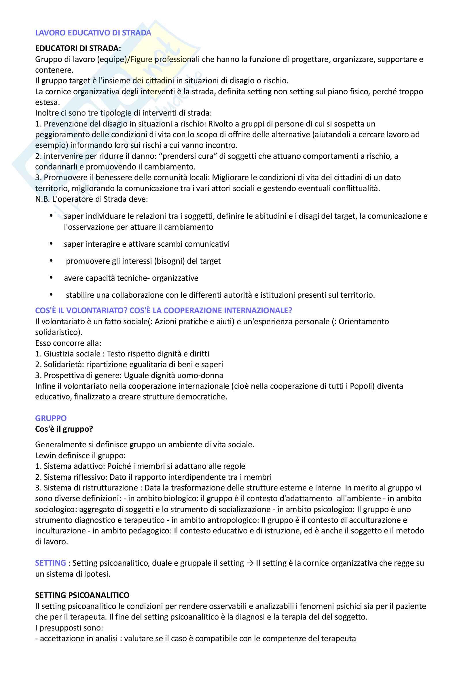 Pedagogia generale e sociale: riassunto di tutto il materiale che serve all'esame Pag. 21