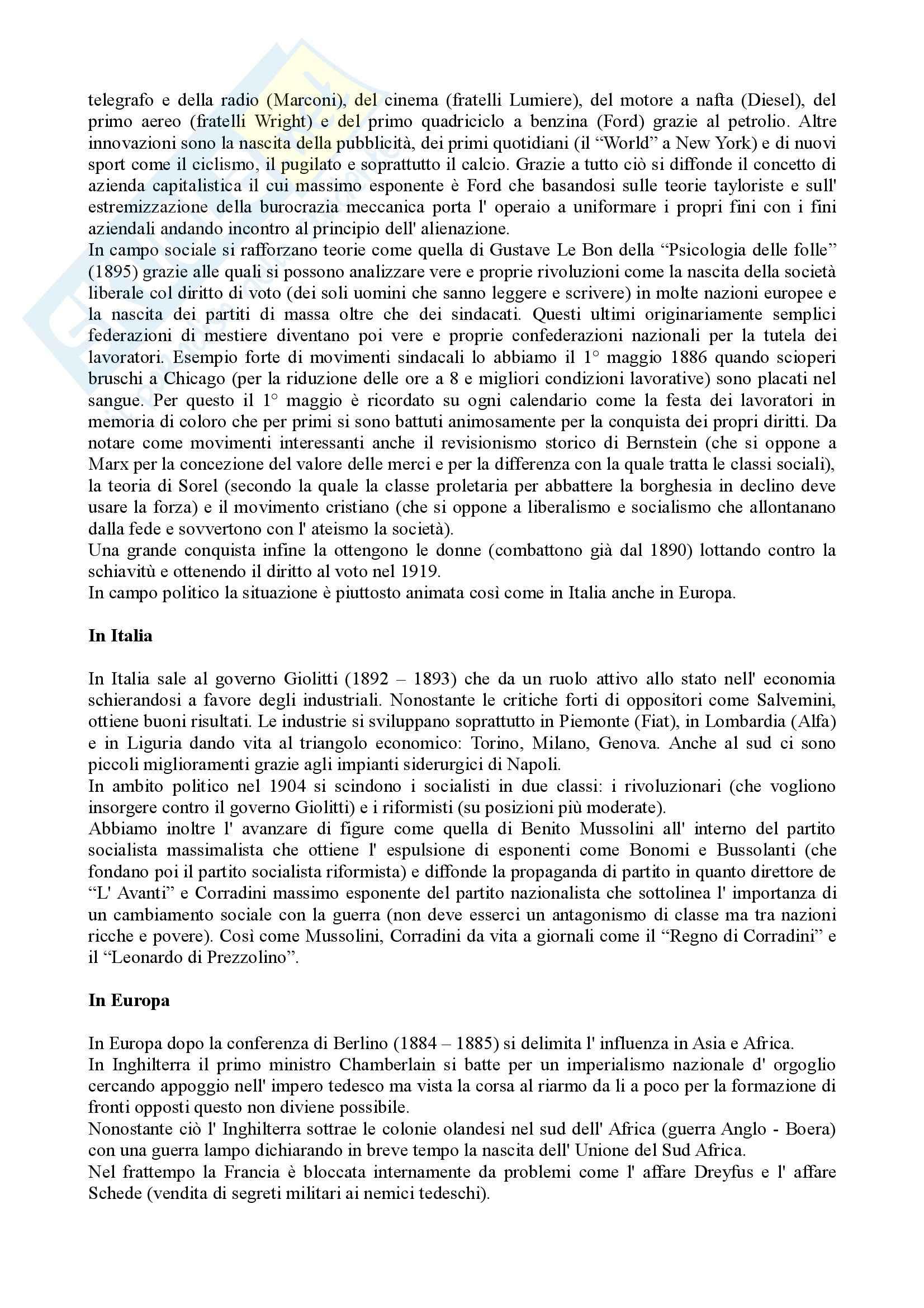 Storia contemporanea Pag. 2