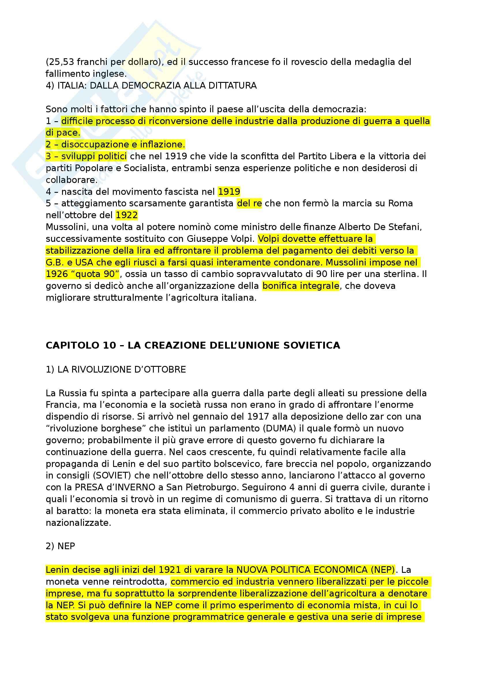 Riassunto esame Storia Economica, prof. Chiapparino, libro consigliato Dalla Rivoluzione Industriale all'Integrazione Europea di Zamagni Pag. 16