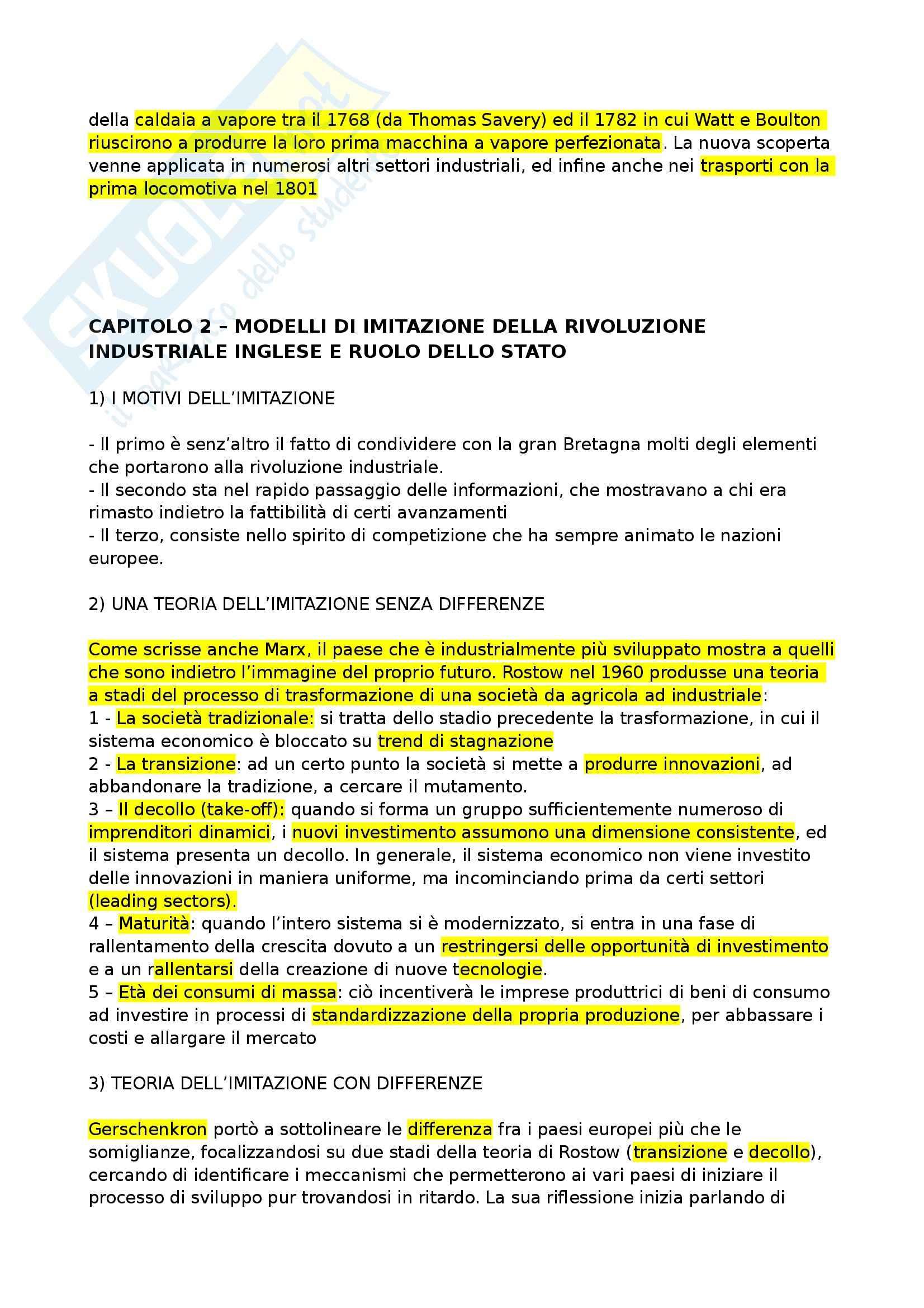 Riassunto esame Storia Economica, prof. Chiapparino, libro consigliato Dalla Rivoluzione Industriale all'Integrazione Europea di Zamagni Pag. 2