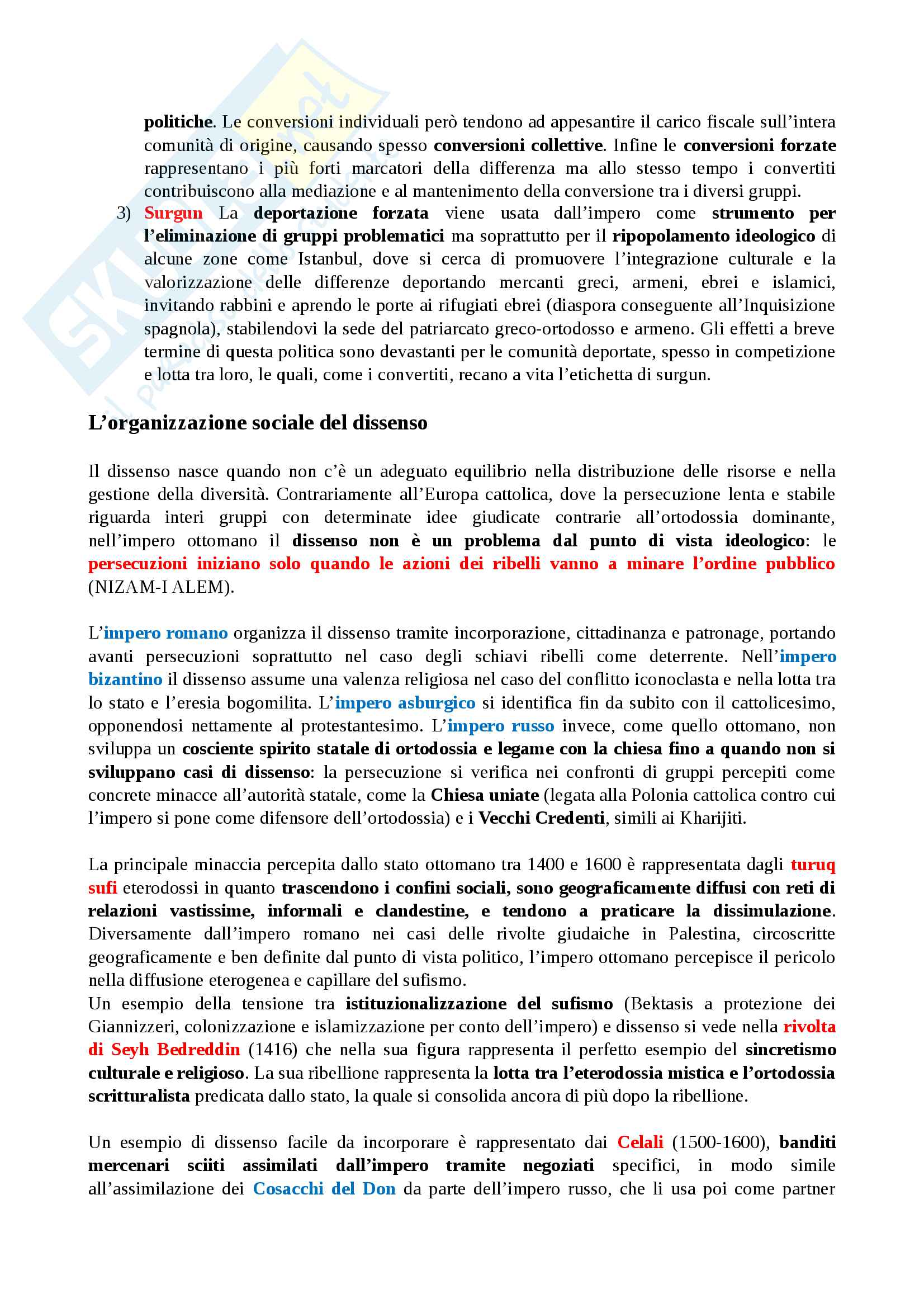 Riassunto esame storia e istituzioni musulmane, prof. Bori, libro consigliato Empire of difference: the Ottomans in comparative perspective, Barkey Pag. 6