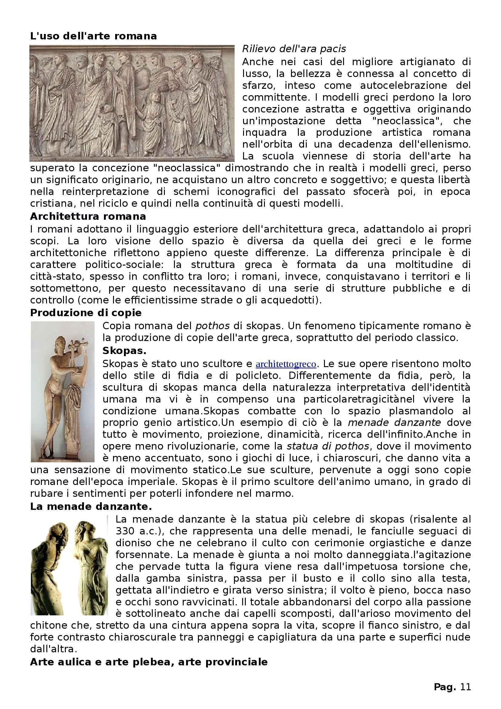 Riassunto esame Archeologia classica, prof. Palermo, libro consigliato Arte ellenistica Pag. 11