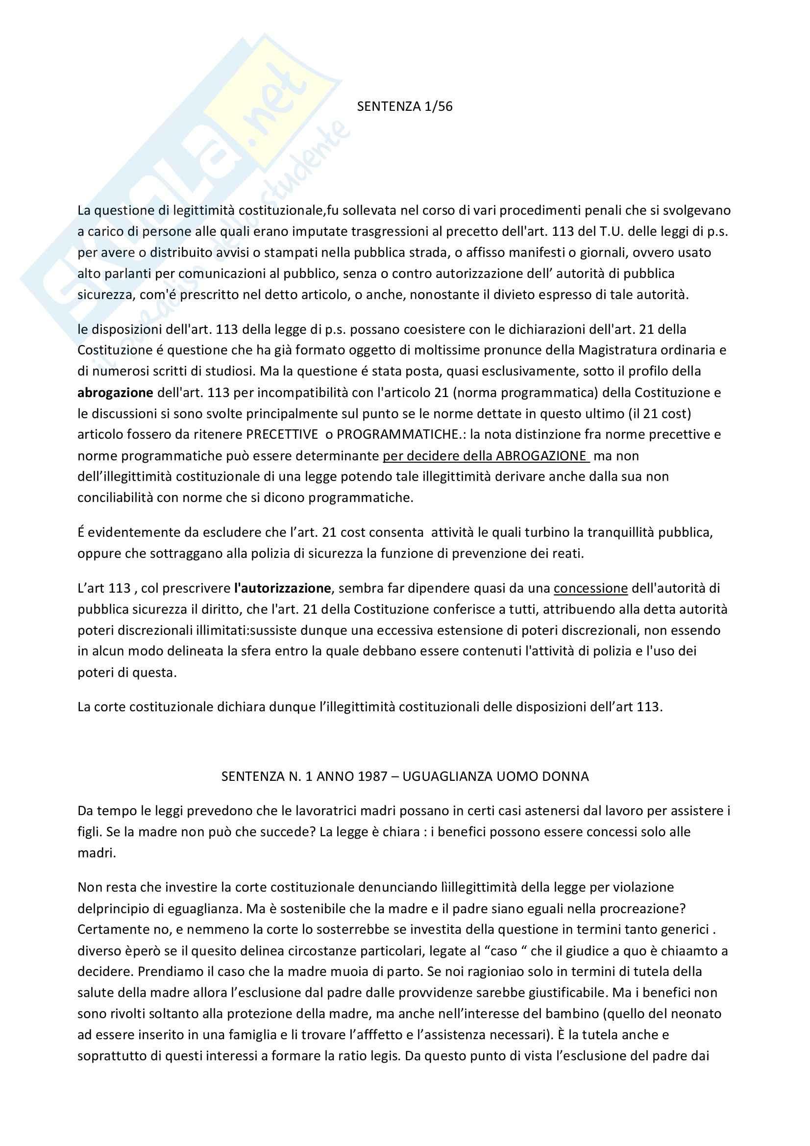 Diritto costituzionale - sentenze di Casonato Carlo