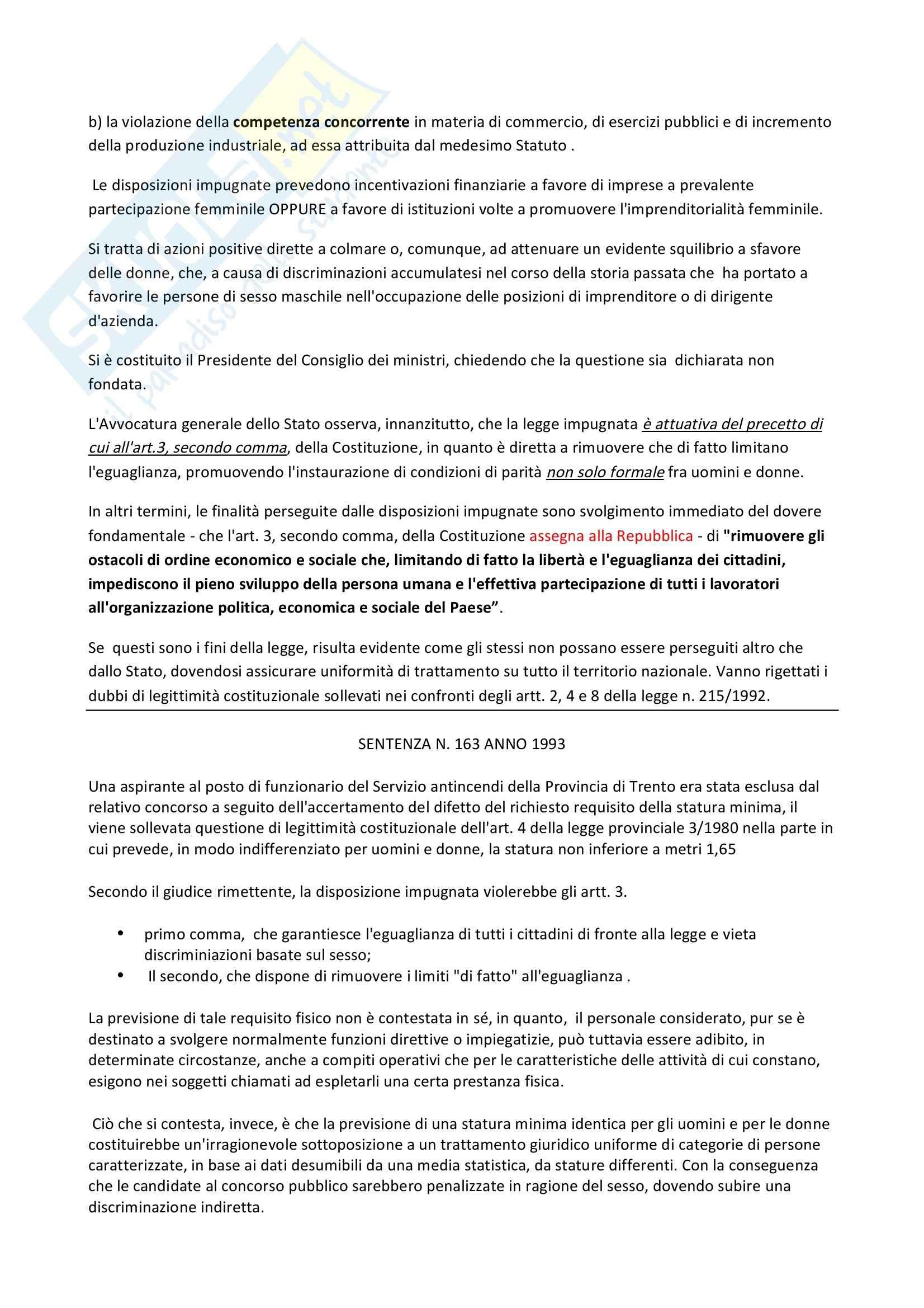 Diritto costituzionale - sentenze di Casonato Carlo Pag. 6