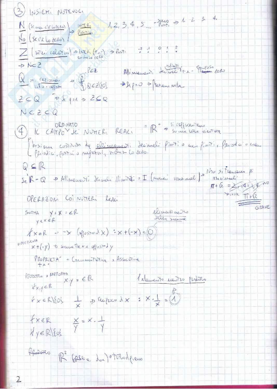 Appunti di Analisi 1 Pag. 2