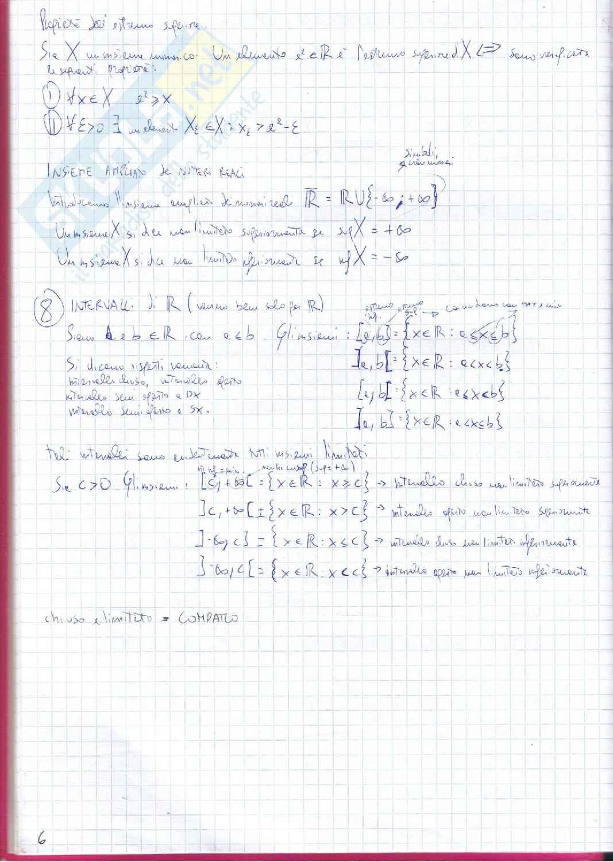 Appunti di Analisi 1 Pag. 6