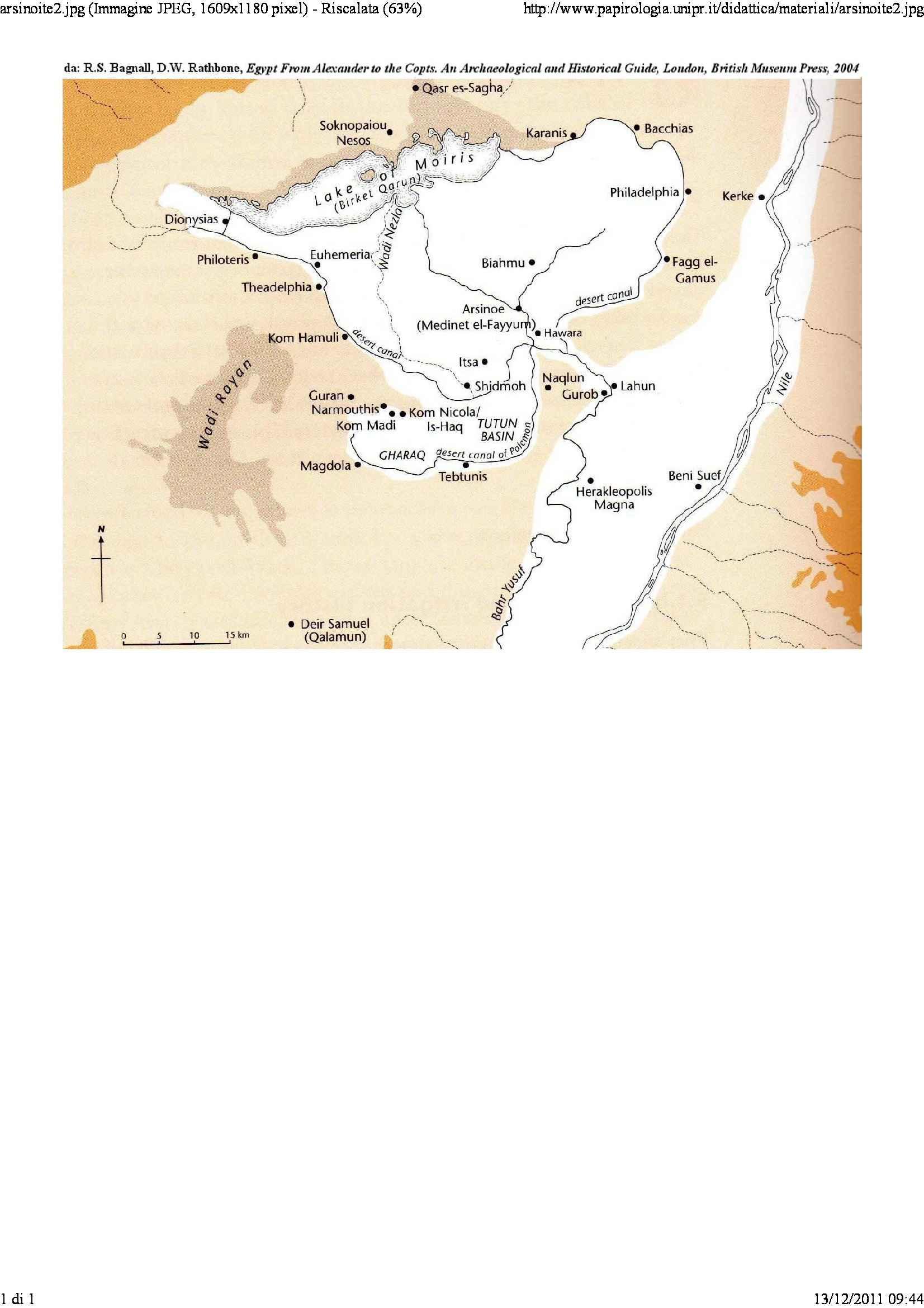 Carta del nomos Arsinoite