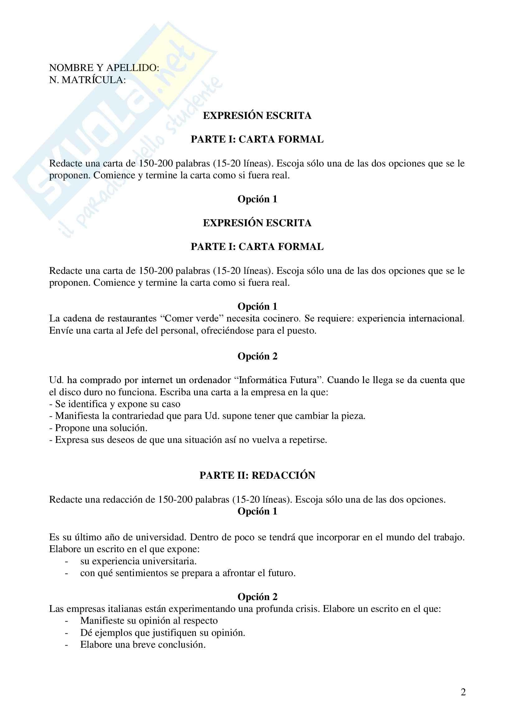 Spagnolo III - Esami Pag. 16