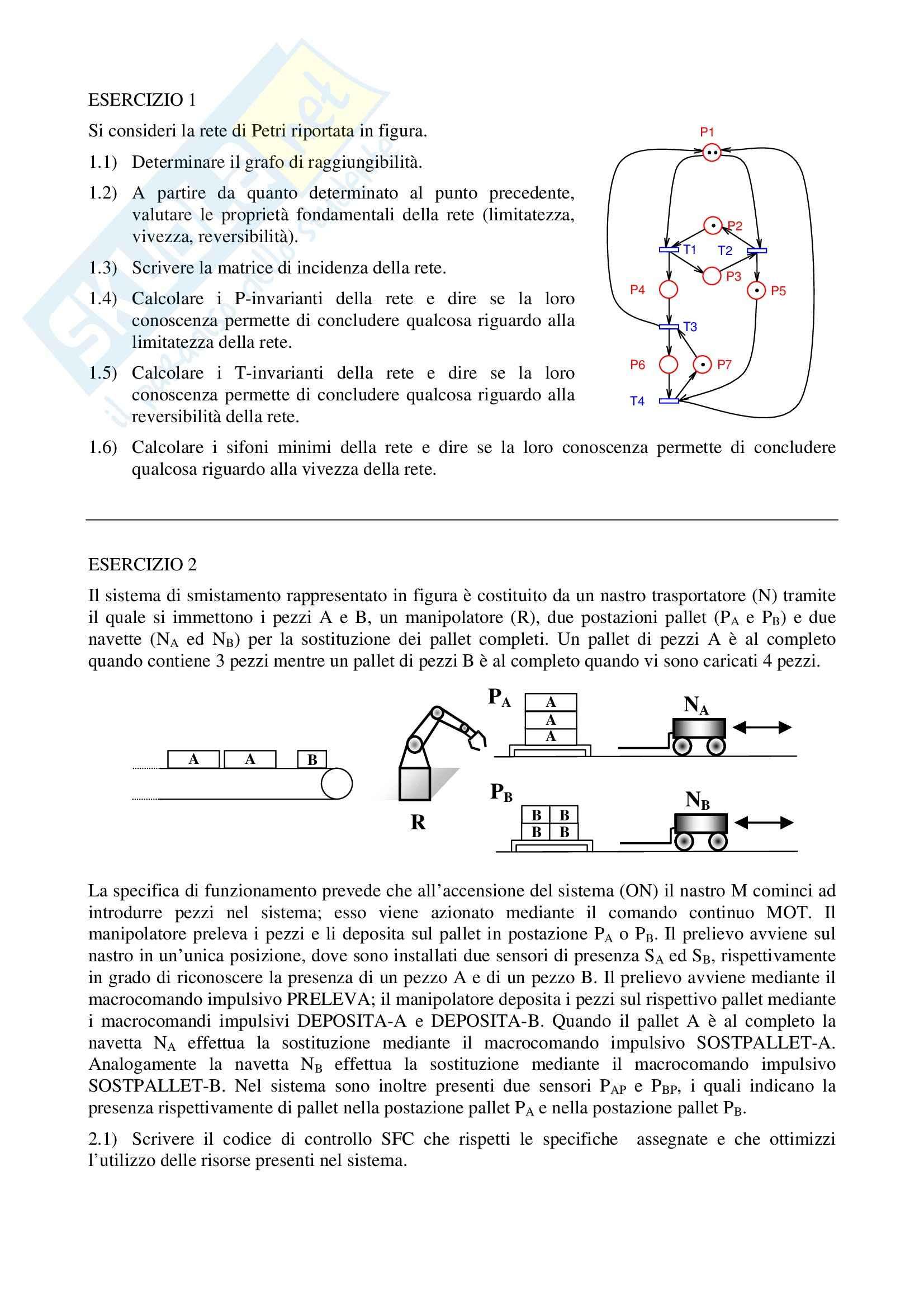 Esercizi svolti, Automazione industriale Pag. 2