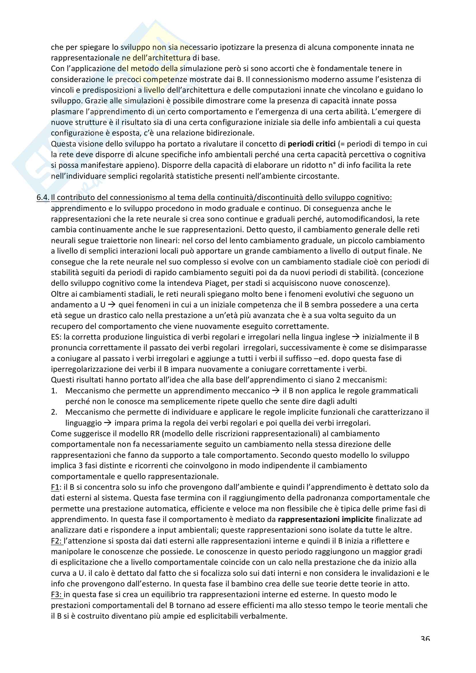 Riassunto esame psicologia dello sviluppo cognitivo, Prof Macchi Cassia e Turati, tutto il materiale: lo sviluppo della mente umana, sviluppo motorio, teoria della mente nell'arco della vita Pag. 36