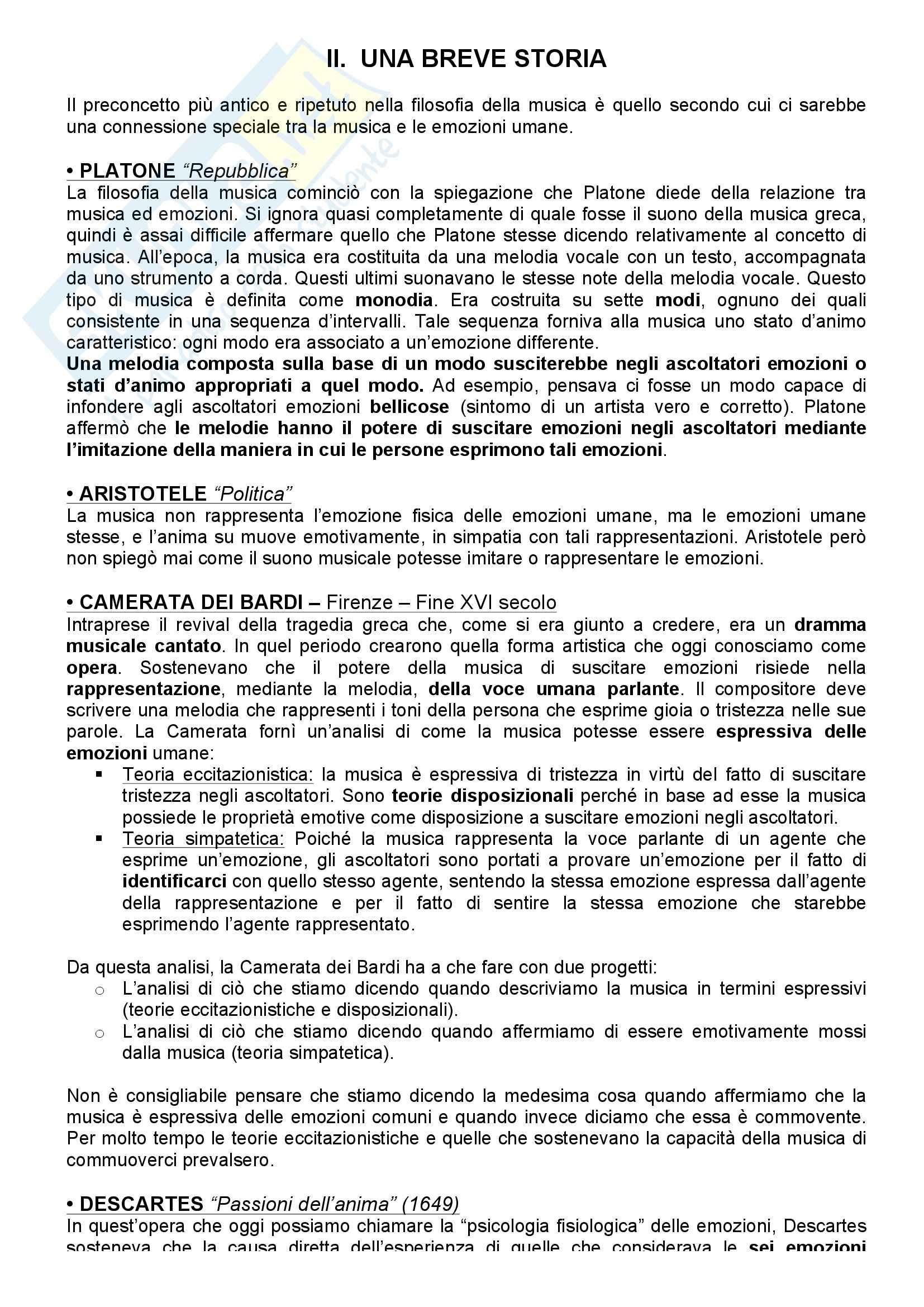 appunto M. Giani Filosofia ed Estetica Musicale